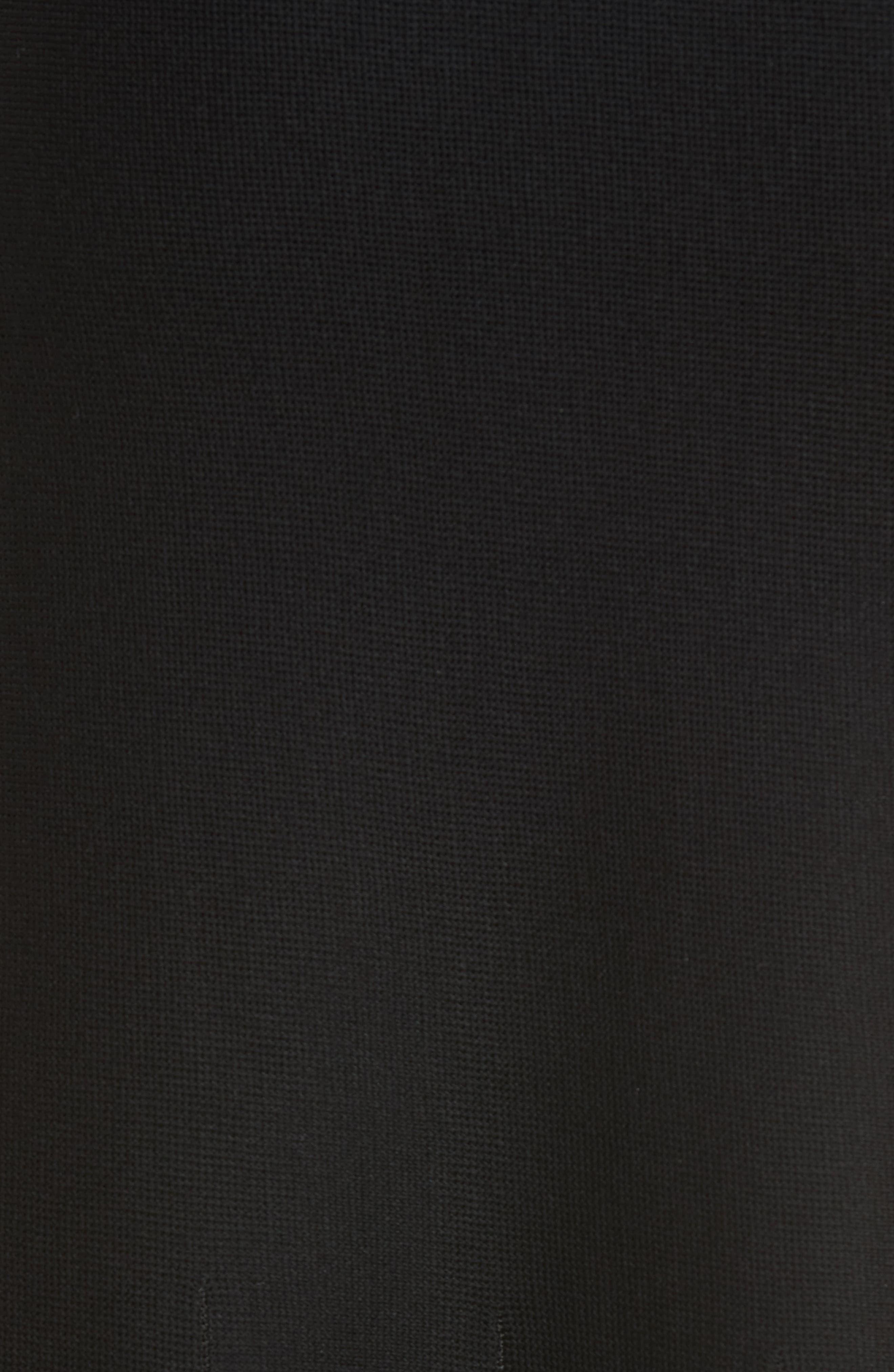 Knit Flared Skirt,                             Alternate thumbnail 5, color,                             BLACK