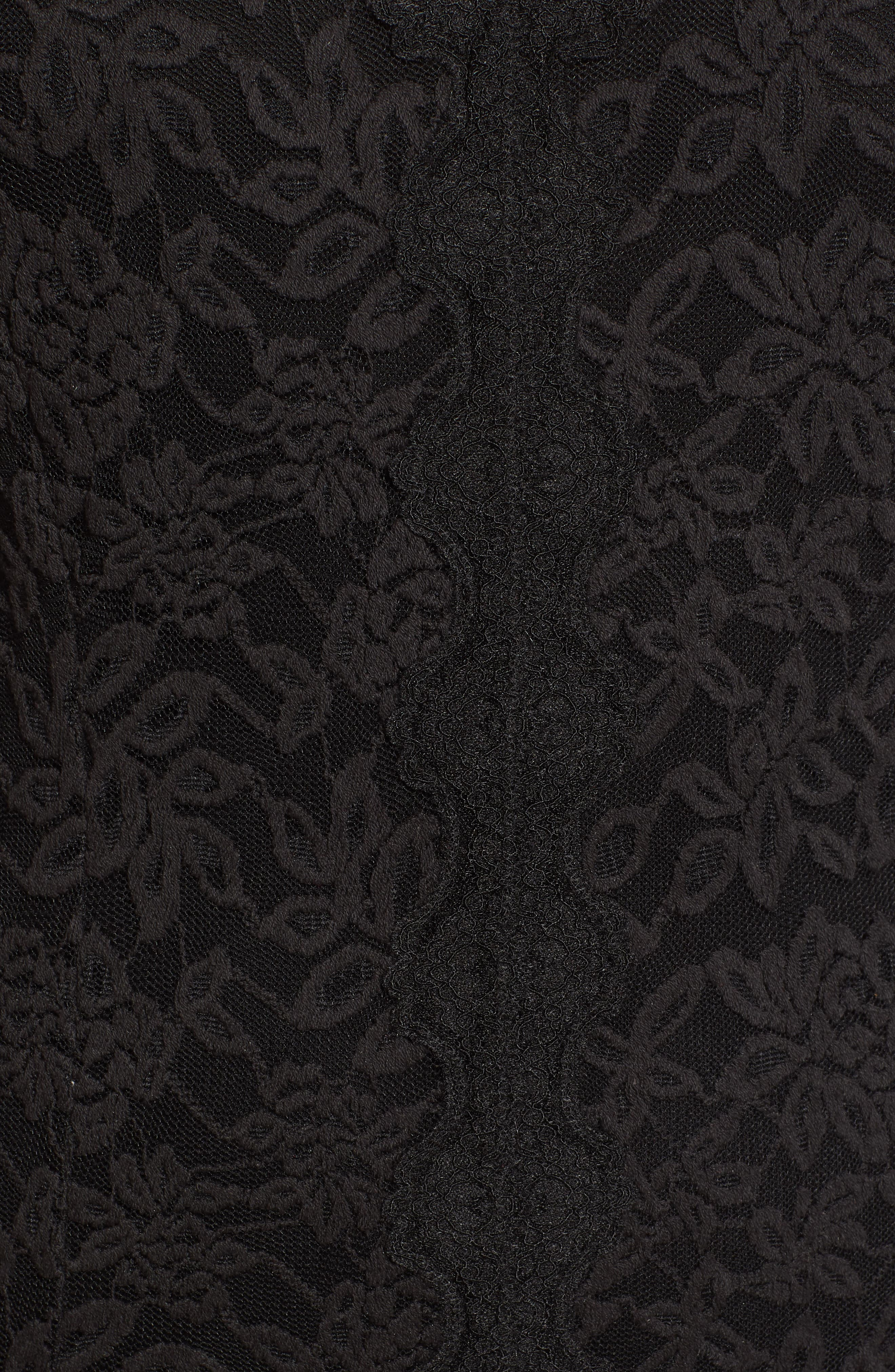 Delicia Fit & Flare Lace Dress,                             Alternate thumbnail 6, color,                             BLACK