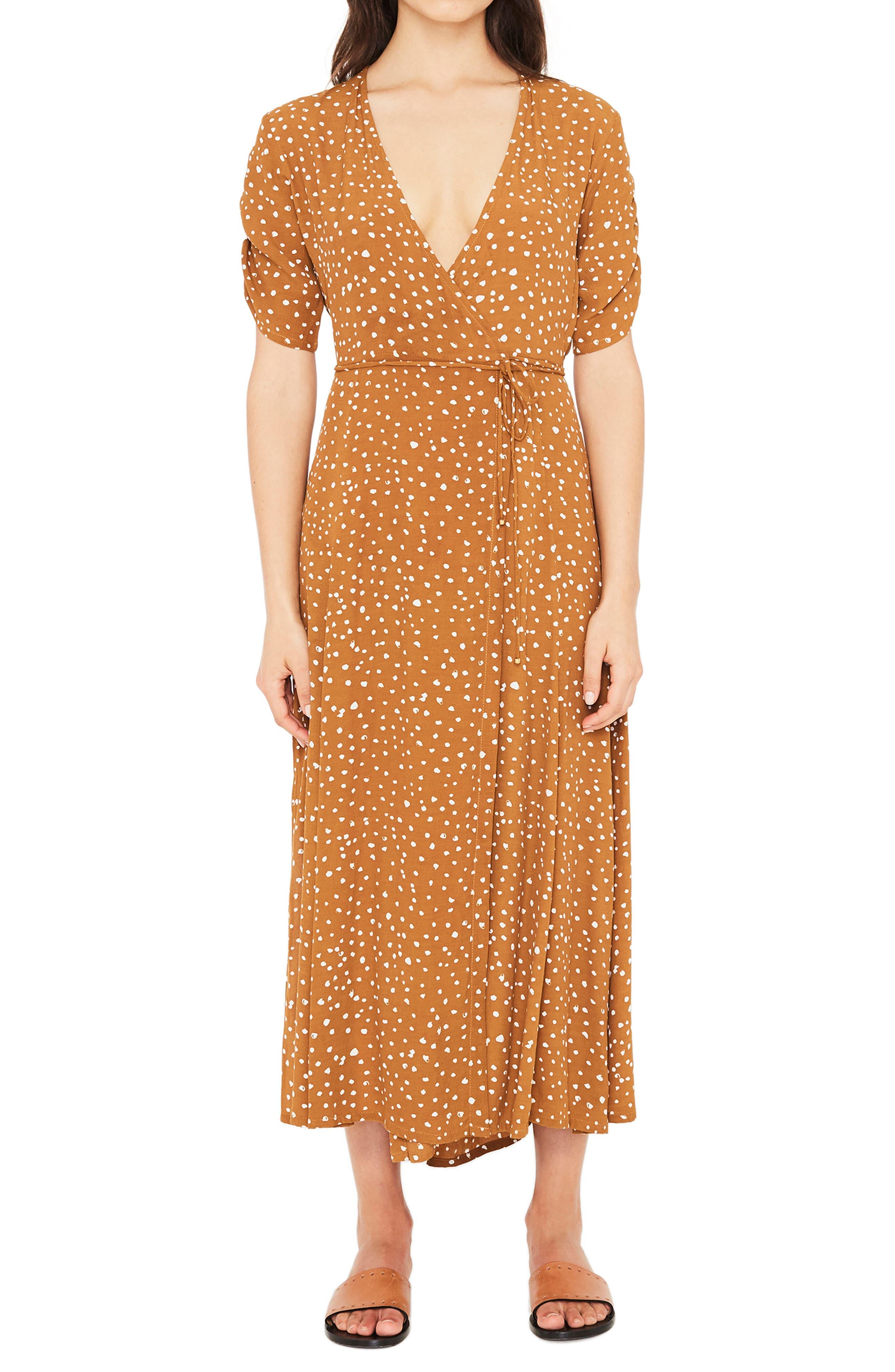 Chiara Dot Print Wrap Dress,                         Main,                         color, 700