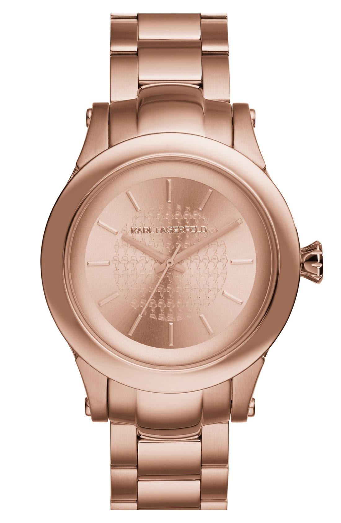 KARL LAGERFELD PARIS,                             KARL LAGERFELD Round Bracelet Watch, 39mm,                             Main thumbnail 1, color,                             711