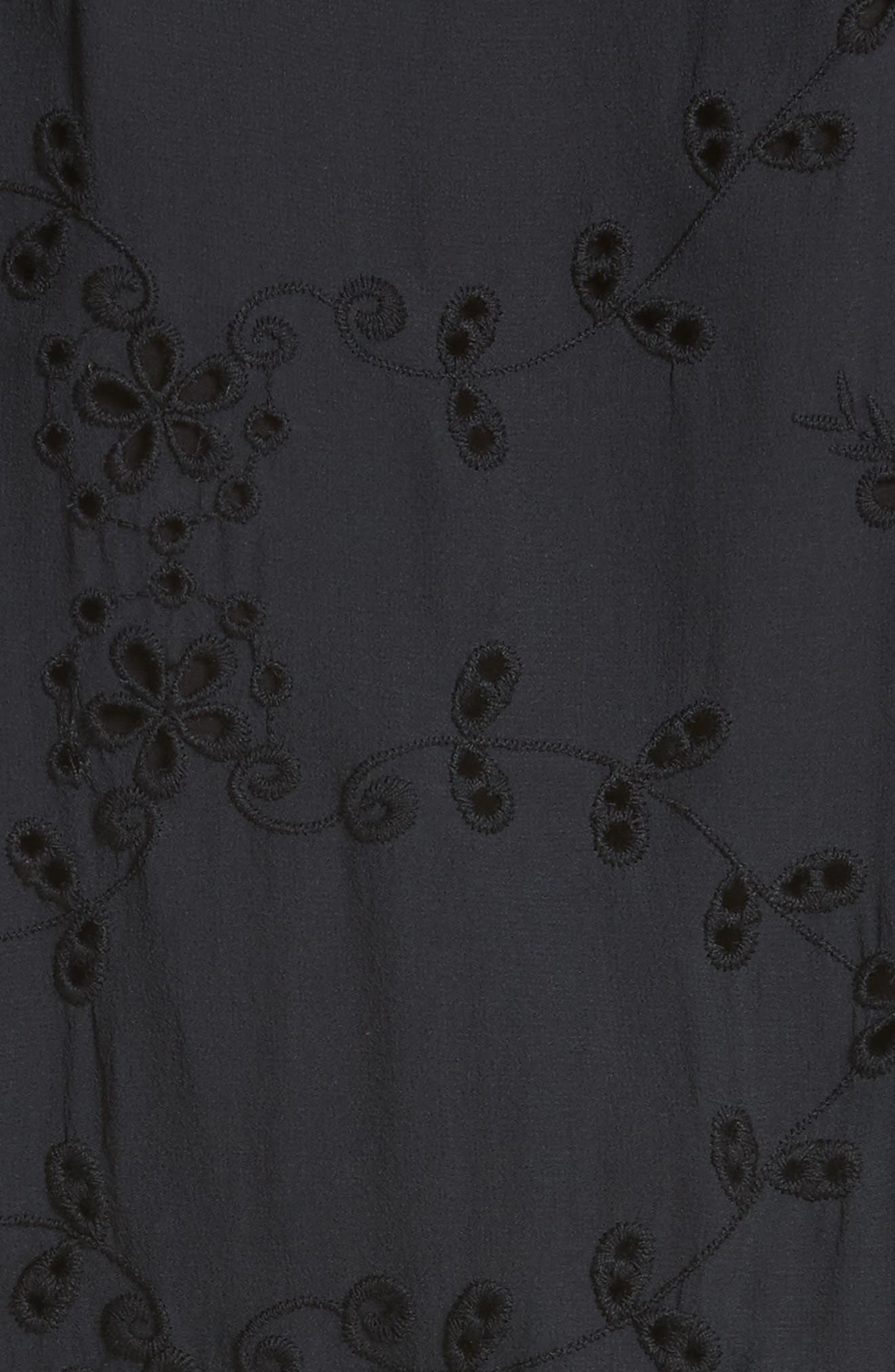 Alpheus Cold Shoulder Ruffled Silk Dress,                             Alternate thumbnail 5, color,                             008