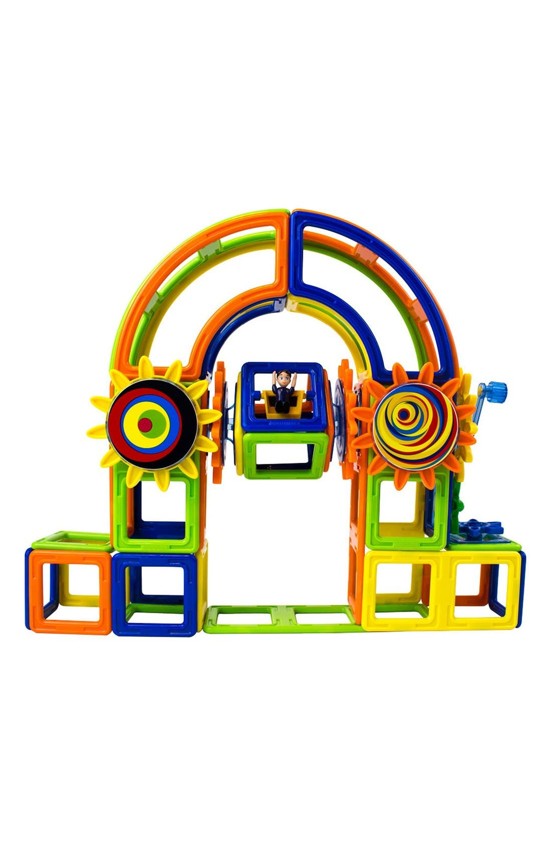 'Magnets in Motion' Magnetic 3D Construction Set,                             Alternate thumbnail 5, color,                             OPAQUE RAINBOW
