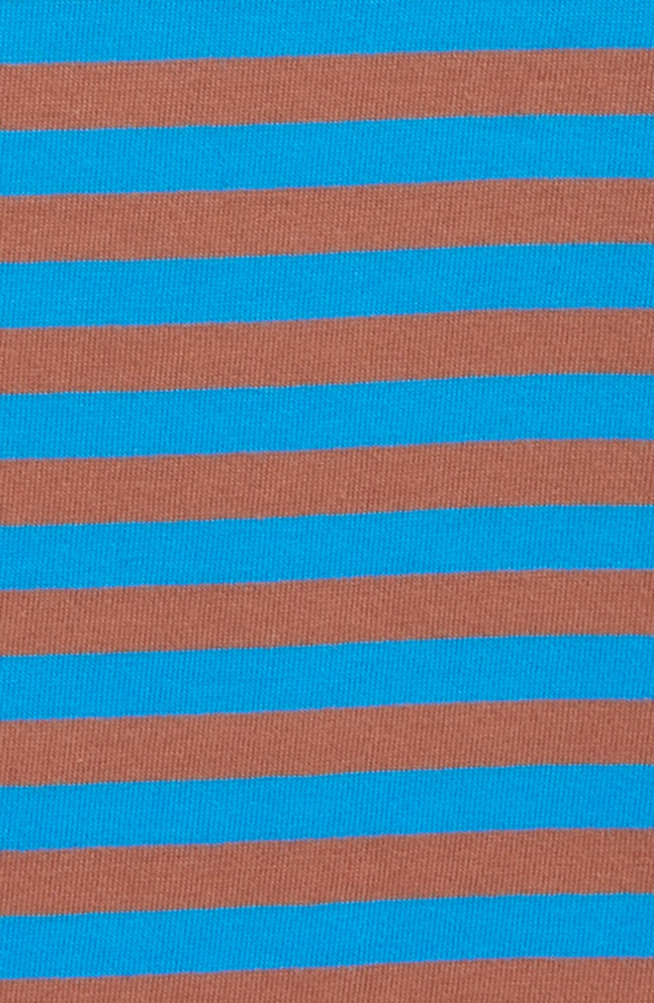 Supersoft Stripe T-Shirt,                             Alternate thumbnail 2, color,                             ELECTRIC BLUE/ MUD PIE BROWN