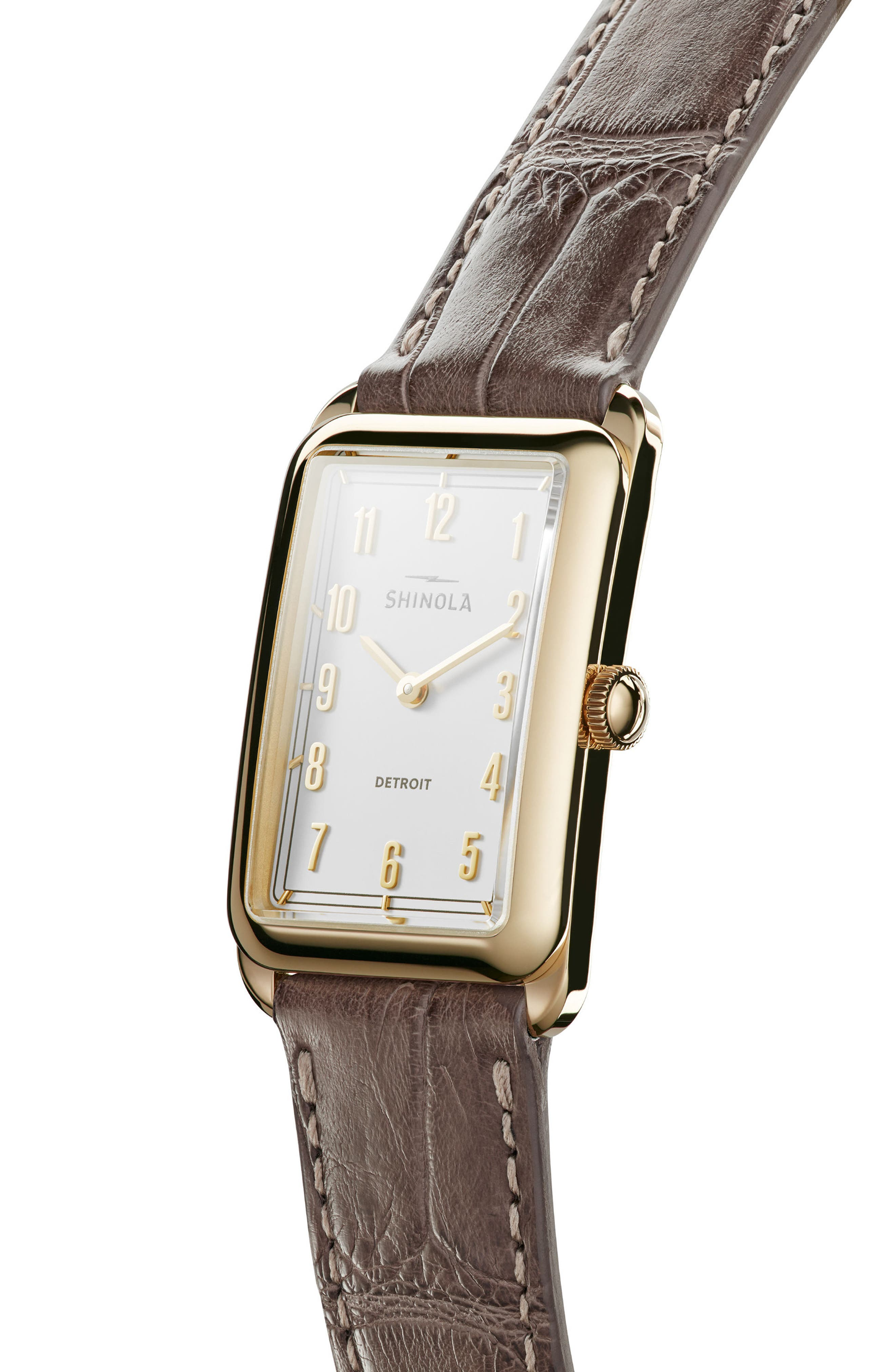 The Muldowney Rectangular Leather Strap Watch, 24mm x 32mm,                             Alternate thumbnail 13, color,