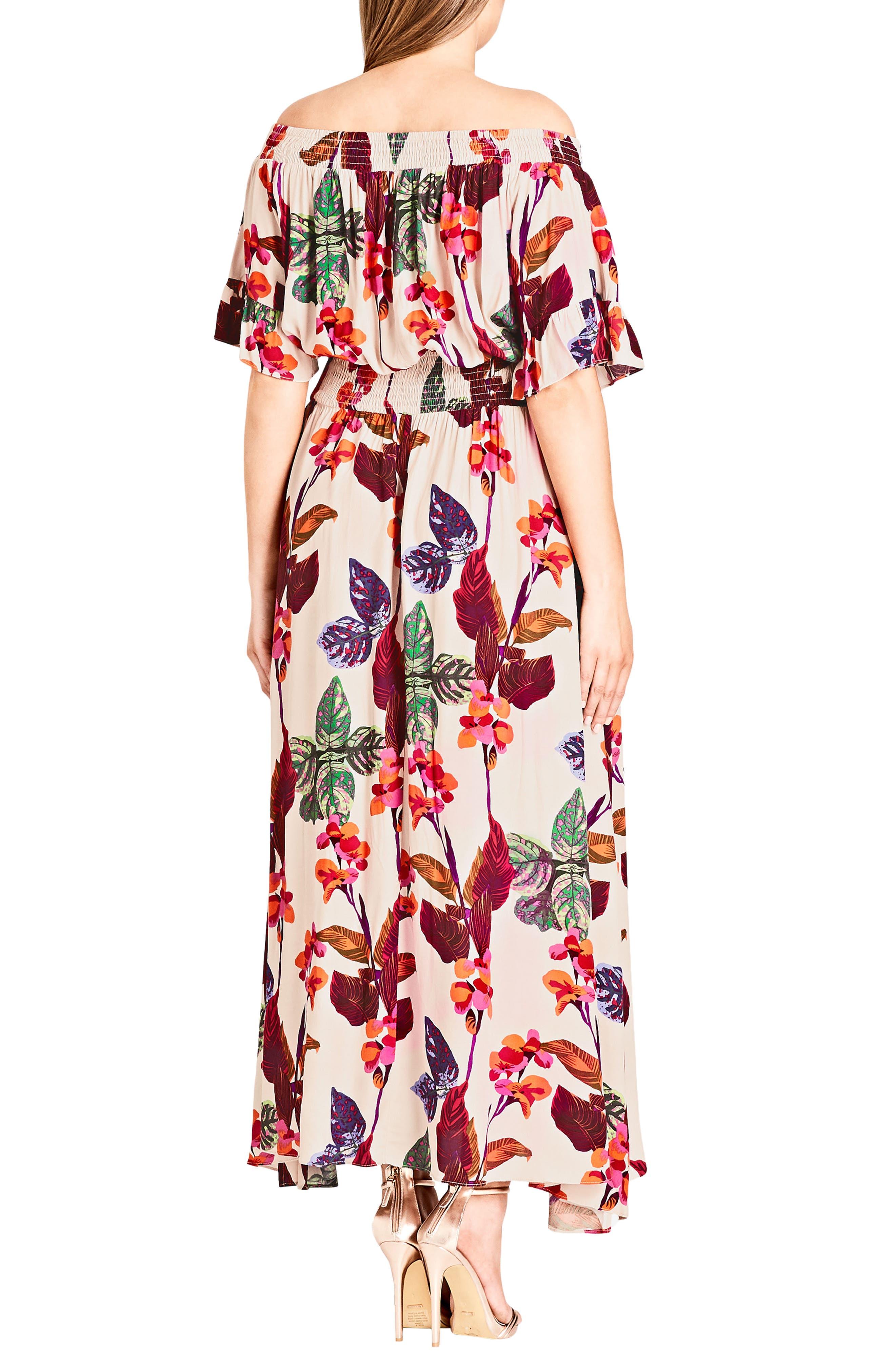 Tropical Print Maxi Dress,                             Alternate thumbnail 2, color,                             117