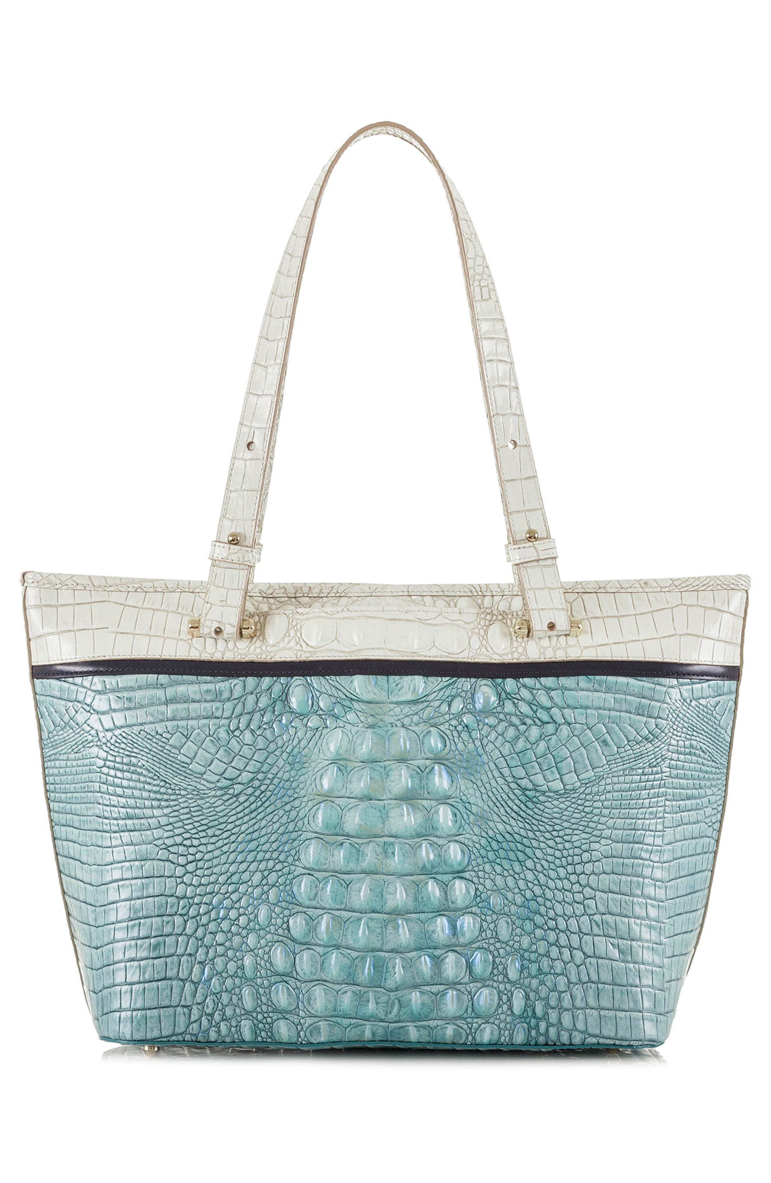 Medium Asher Embossed Leather Tote,                             Alternate thumbnail 2, color,