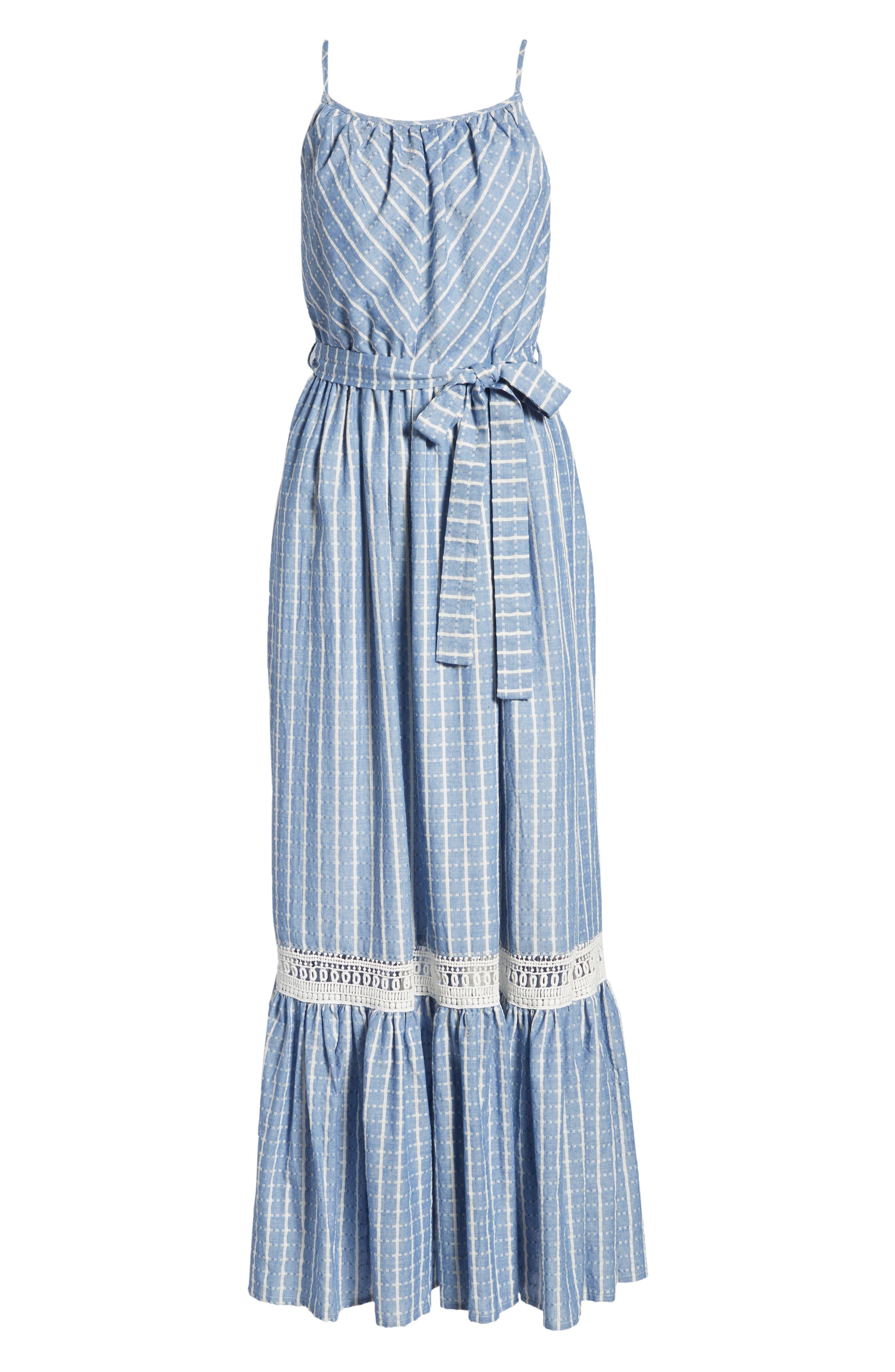 Tie Waist Cotton Maxi Dress,                             Alternate thumbnail 23, color,