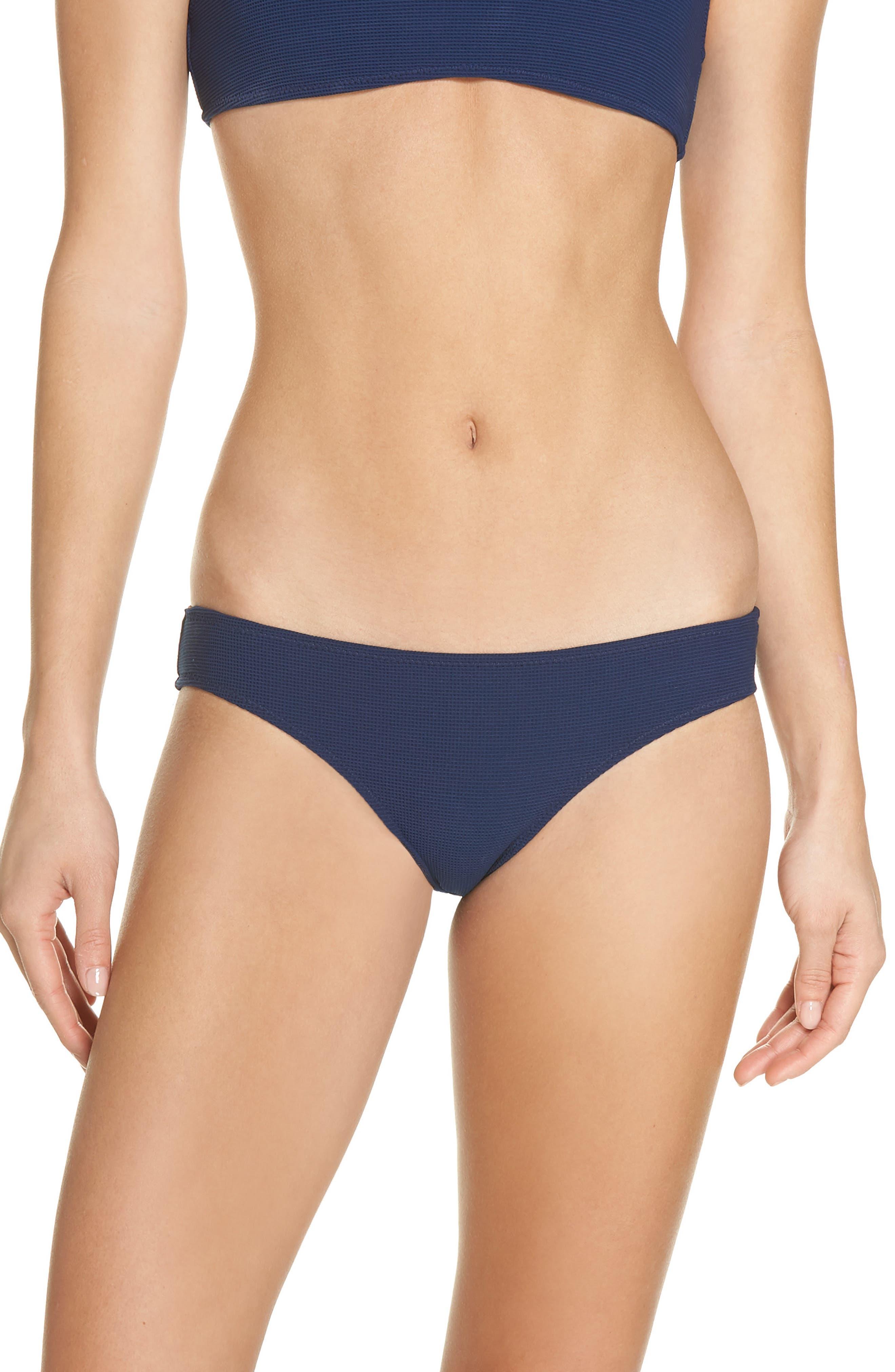 Elle Bikini Bottoms,                         Main,                         color, NAVY PIQUE