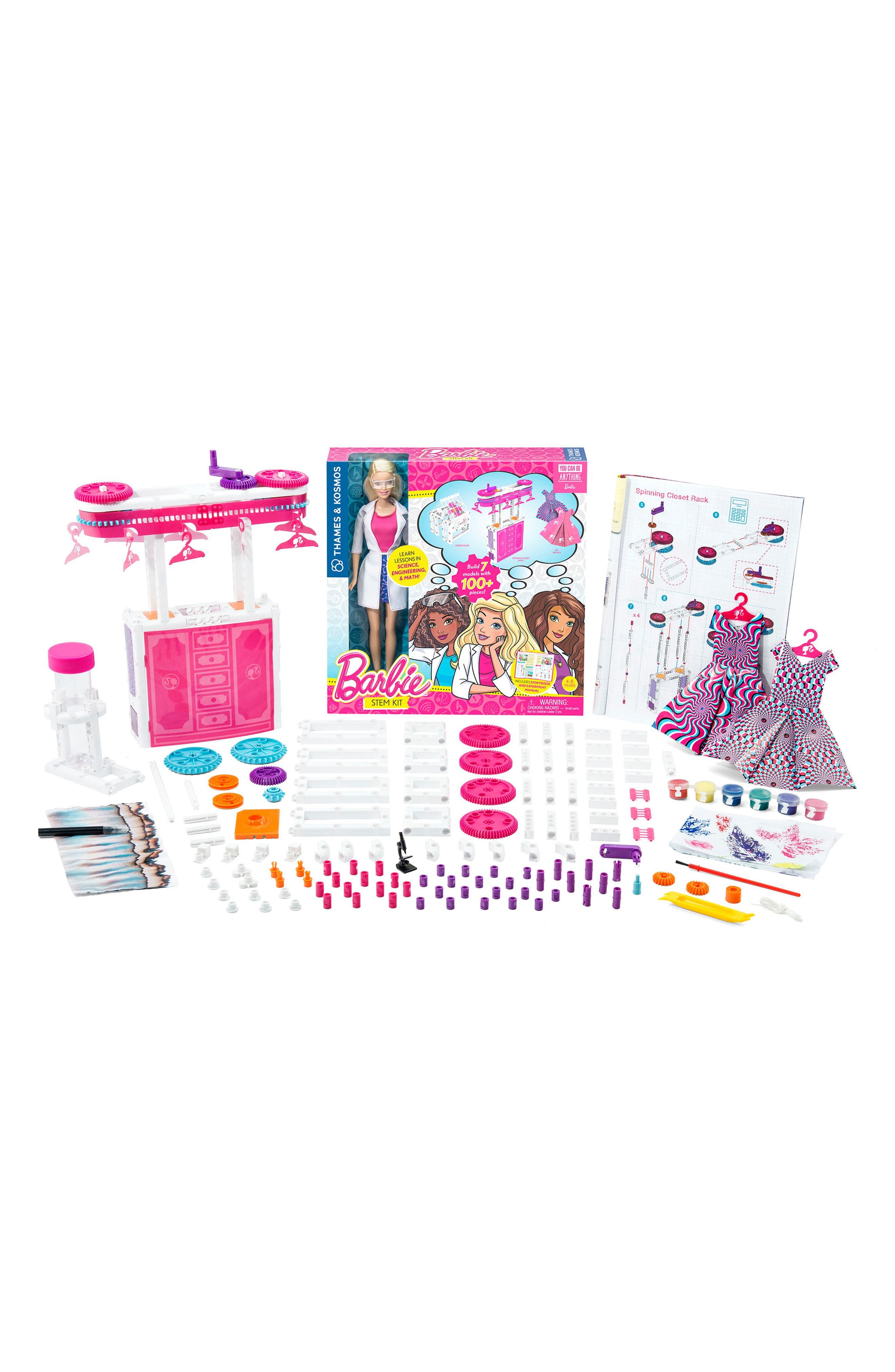 Barbie<sup>®</sup> STEM Kit & Doll Set,                             Alternate thumbnail 2, color,                             PINK