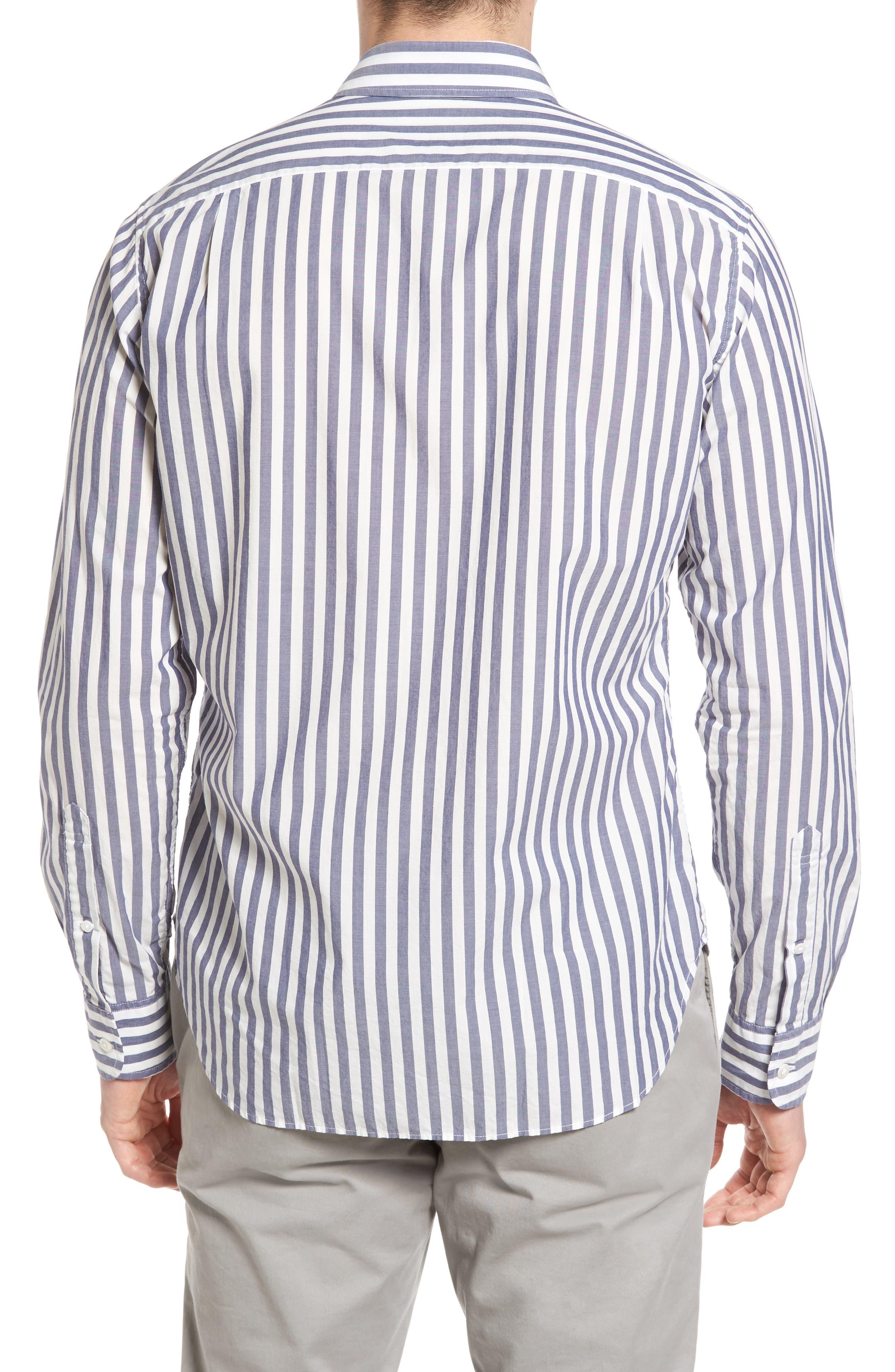 Slim Fit Summerweight Stripe Sport Shirt,                             Alternate thumbnail 2, color,                             400