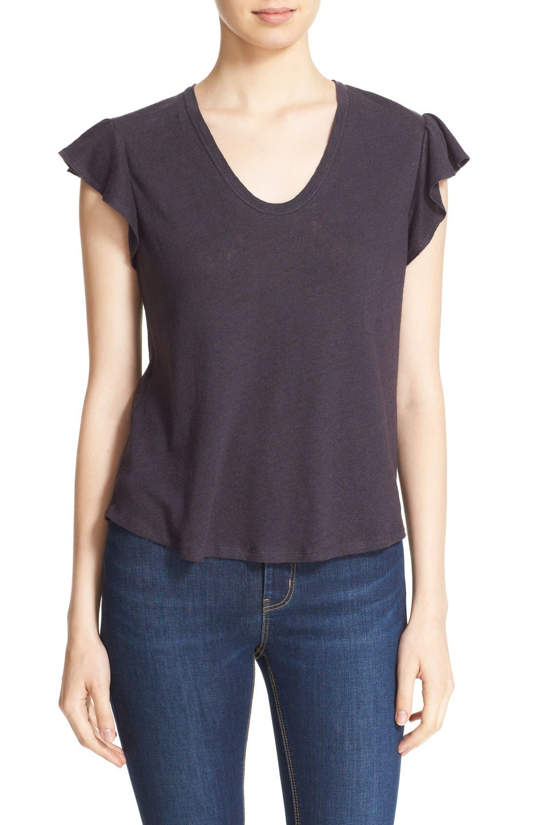 Washed Texture Jersey Tee,                             Main thumbnail 9, color,