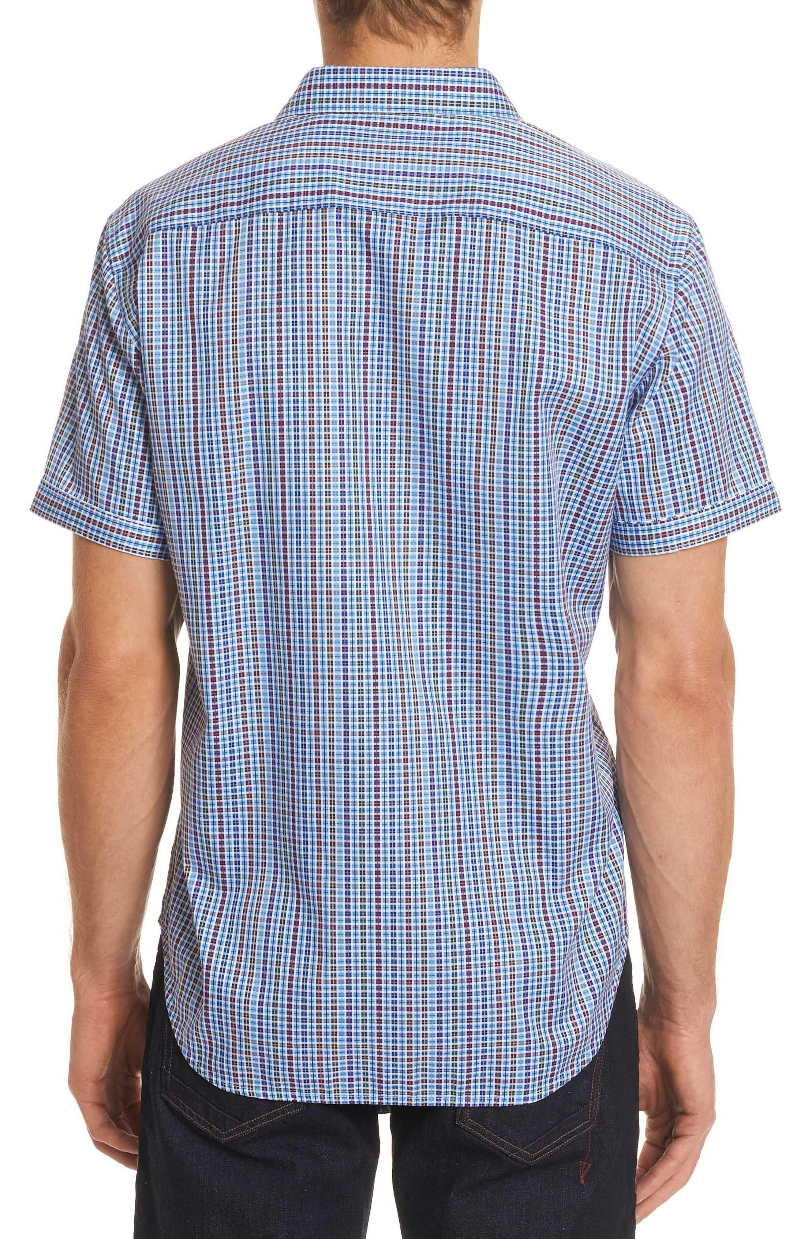 Palma Classic Fit Plaid Sport Shirt,                             Alternate thumbnail 2, color,                             450