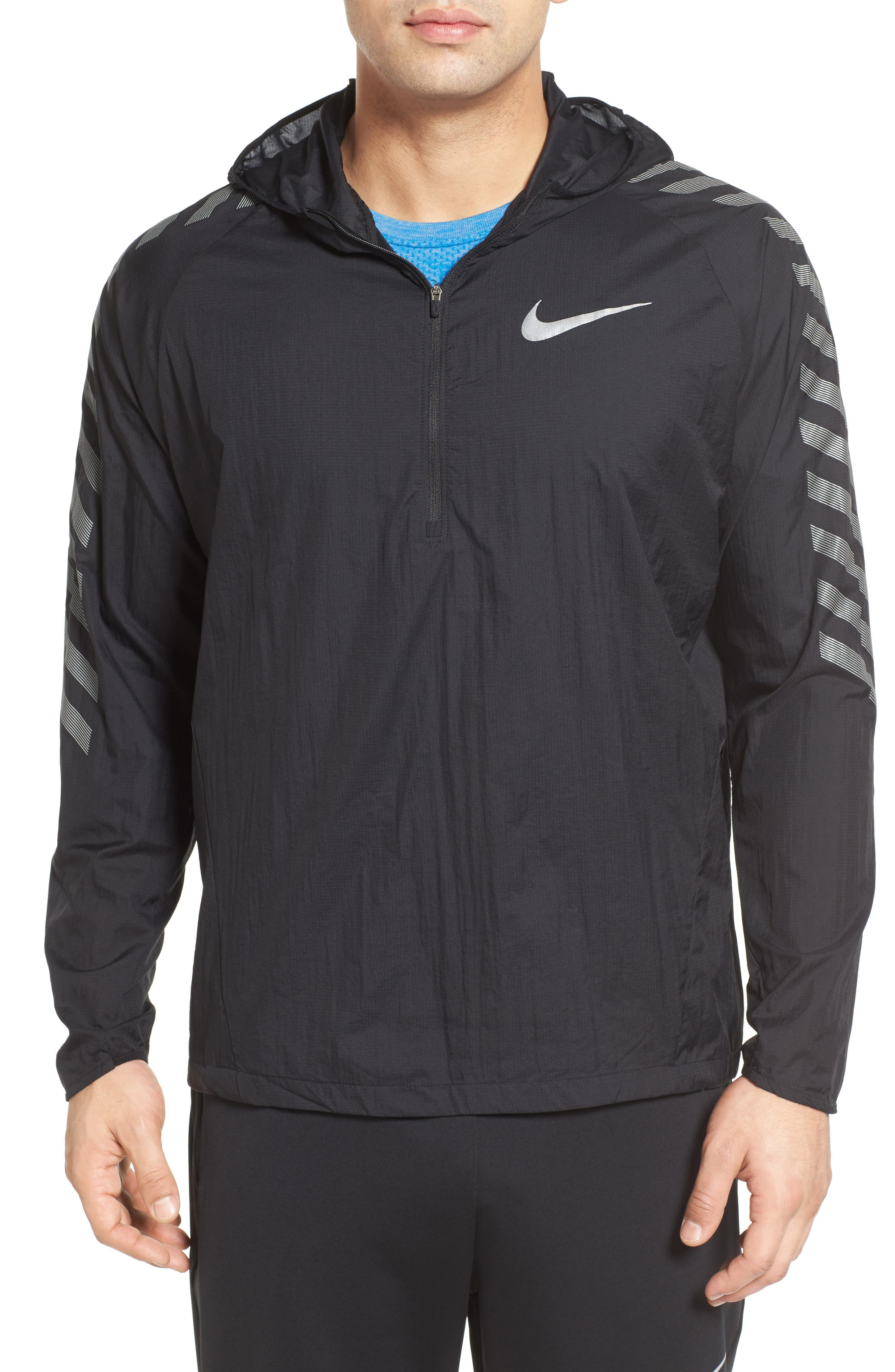 Hooded Running Jacket,                         Main,                         color, 010