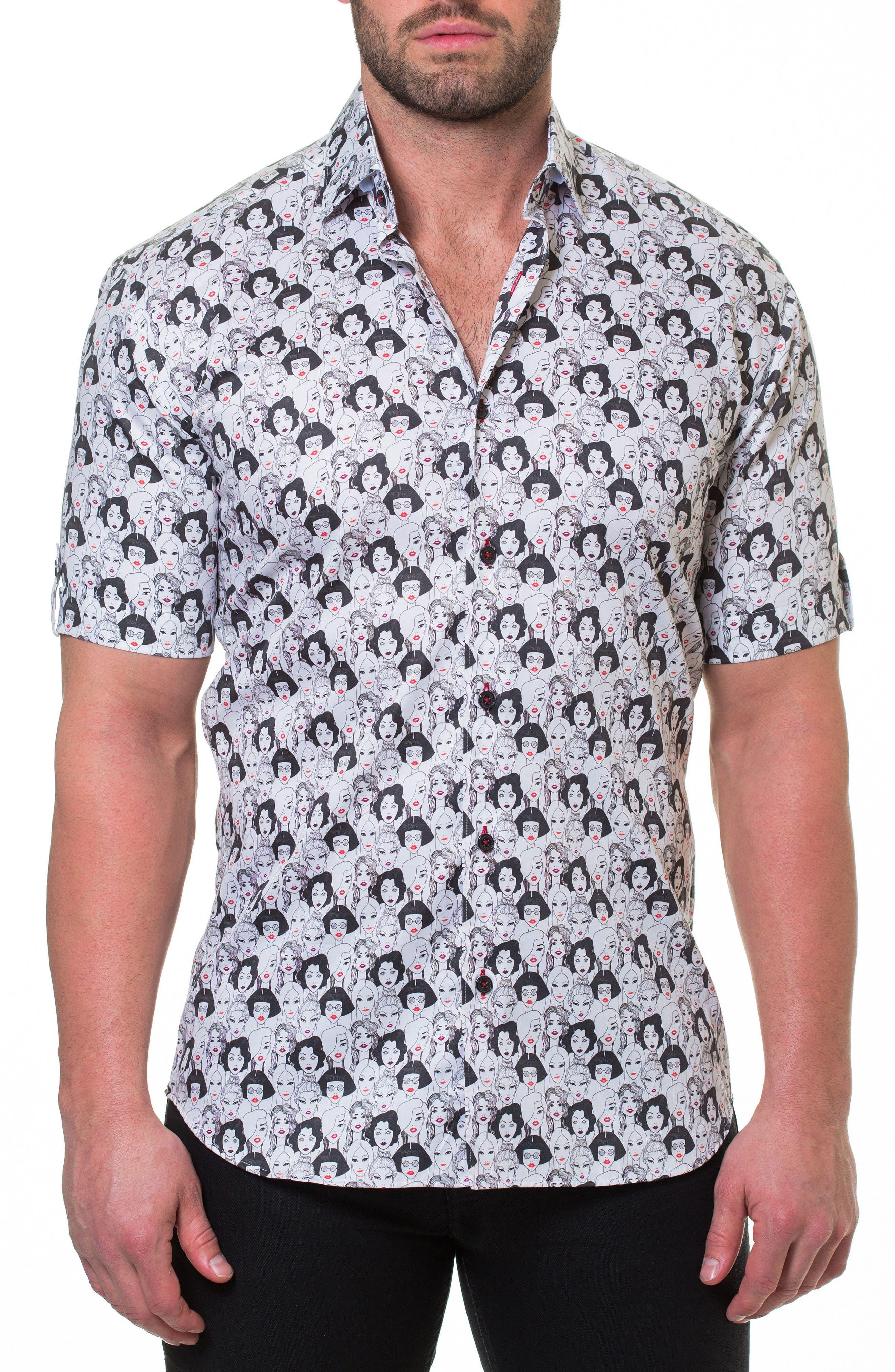 Fresh Runway Slim Fit Sport Shirt,                         Main,                         color, 030