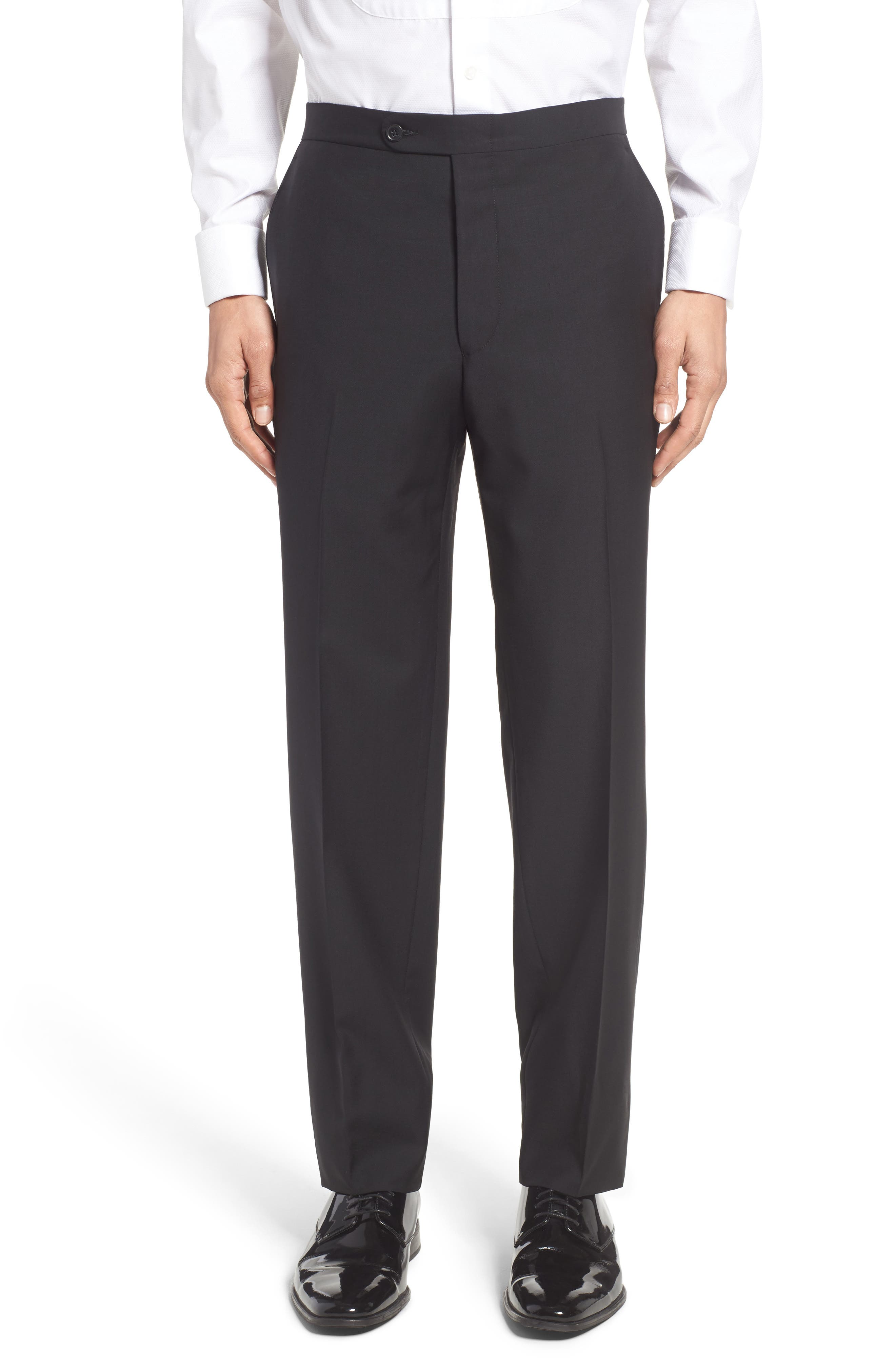 Classic Fit Wool & Mohair Tuxedo,                             Alternate thumbnail 6, color,                             001