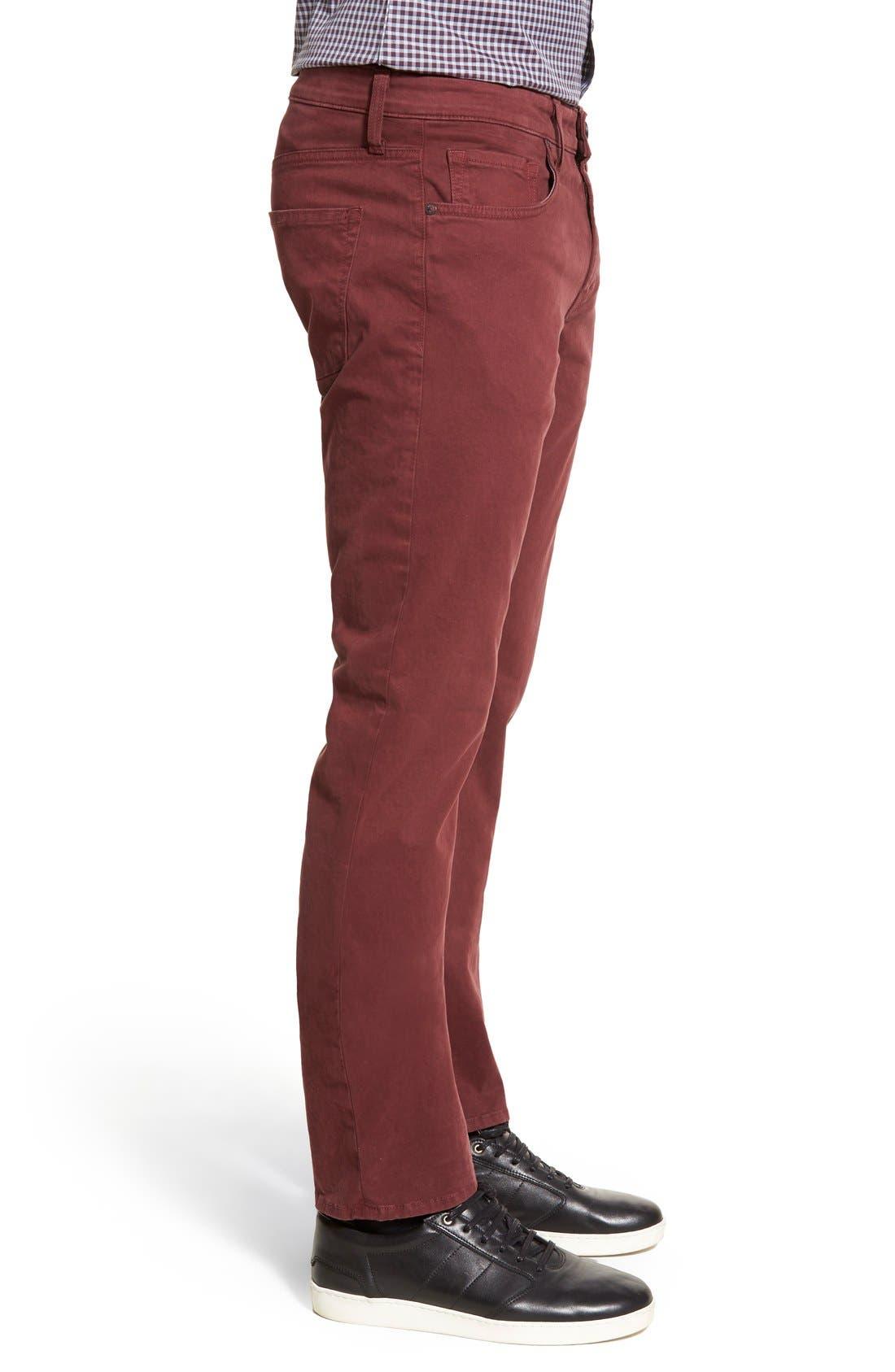 'Kane' Slim Fit Cotton Twill Pants,                             Alternate thumbnail 58, color,