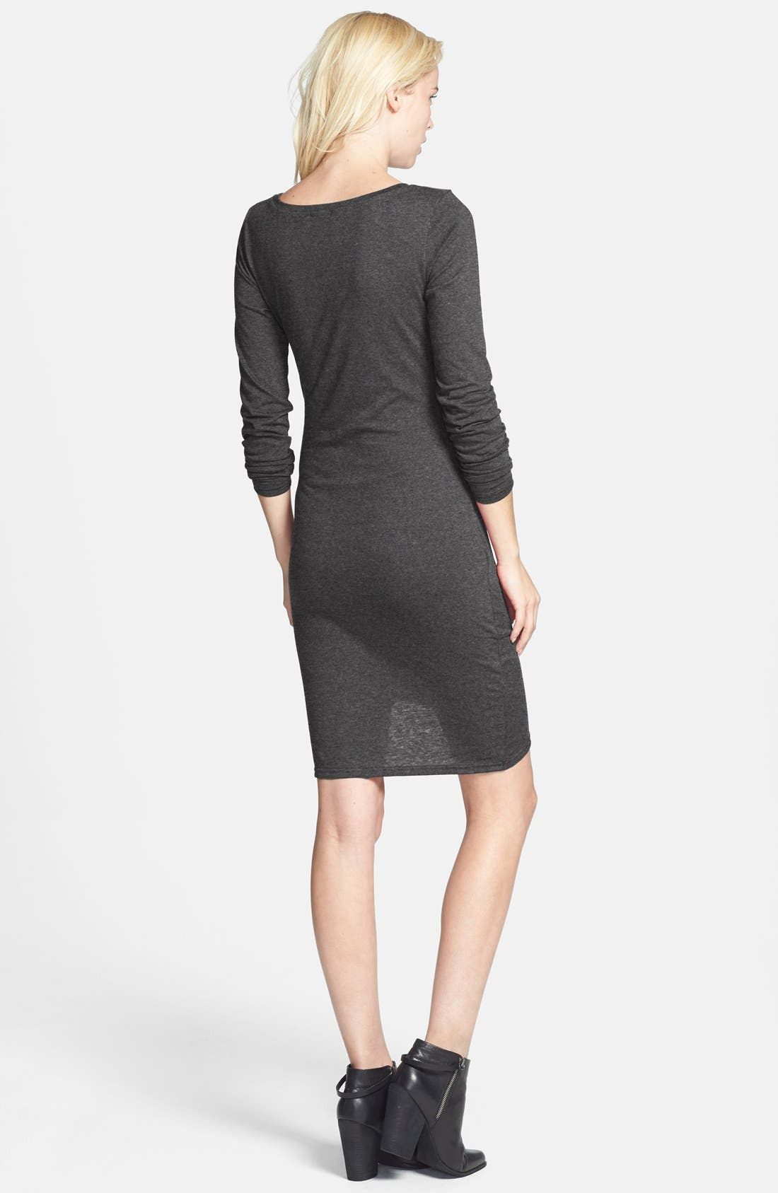 Ruched Long Sleeve Dress,                             Alternate thumbnail 40, color,