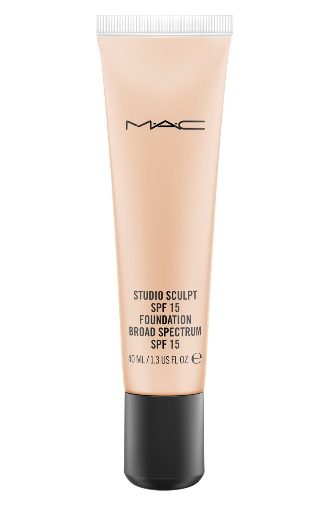 MAC COSMETICS,                             MAC Studio Sculpt SPF 15 Foundation,                             Main thumbnail 1, color,                             NC20