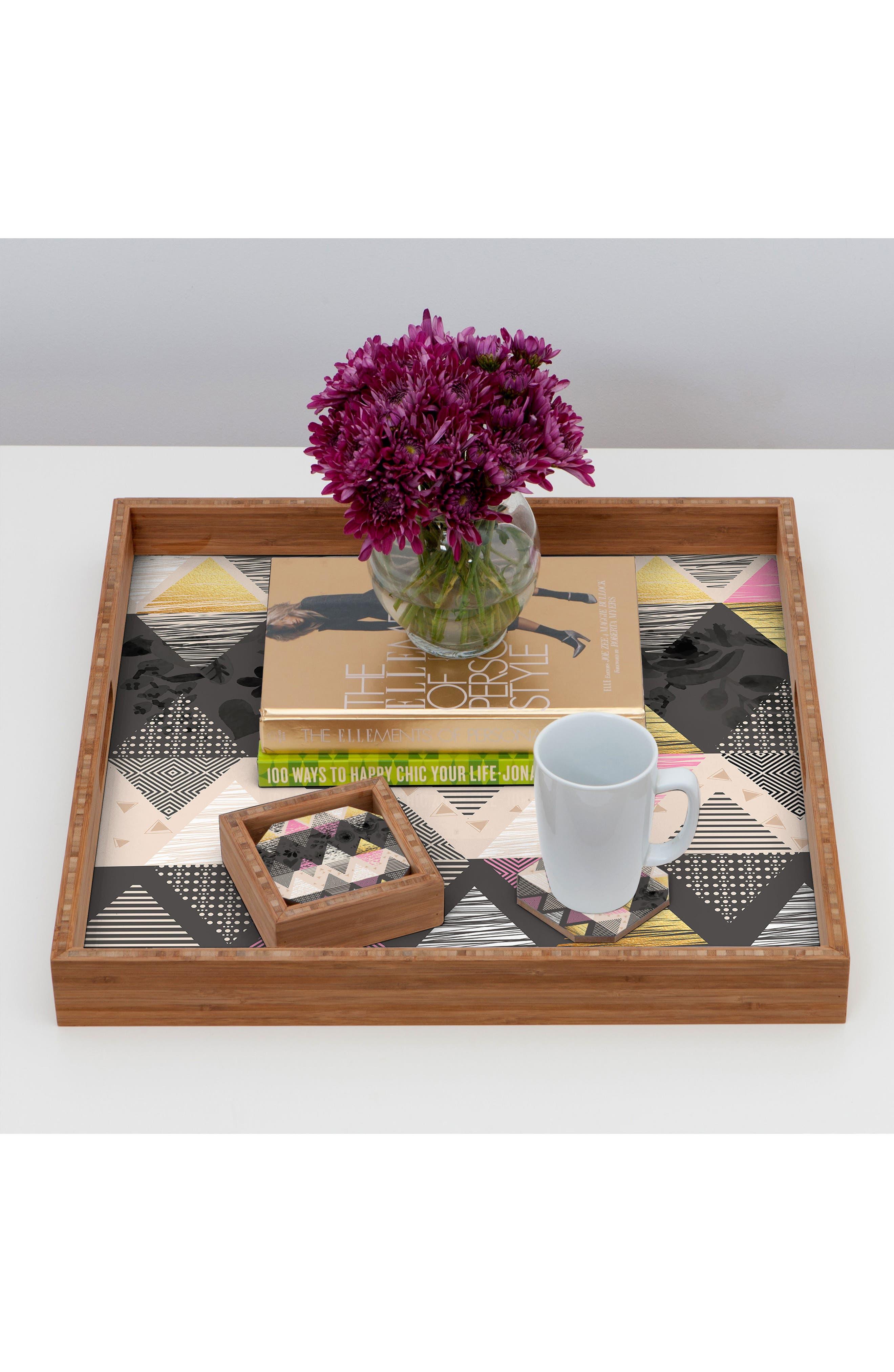 Geometric Set of 4 Coasters,                             Alternate thumbnail 3, color,                             001