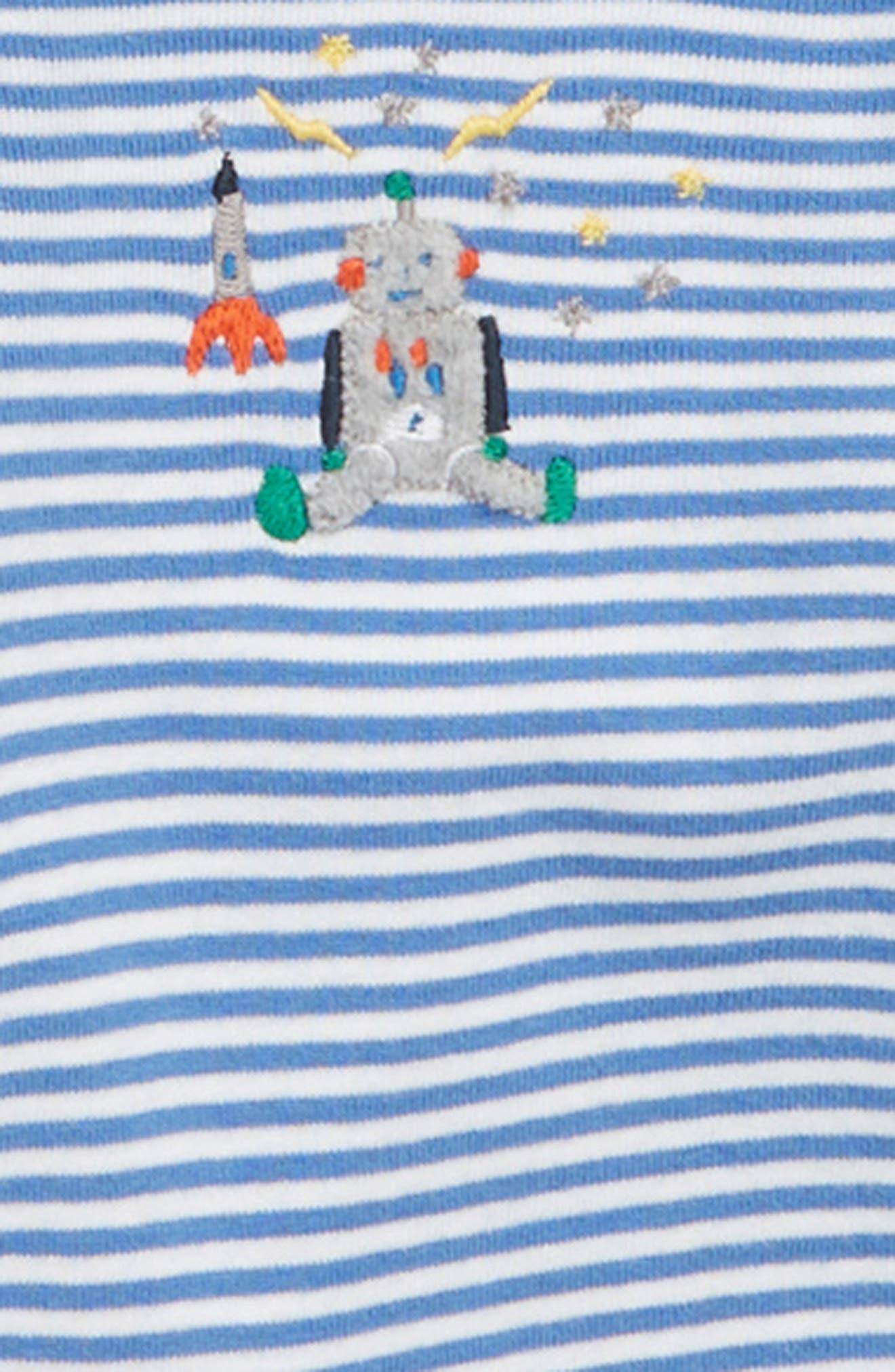 Robot 3-Pack Organic Cotton Bodysuits,                             Alternate thumbnail 2, color,                             486