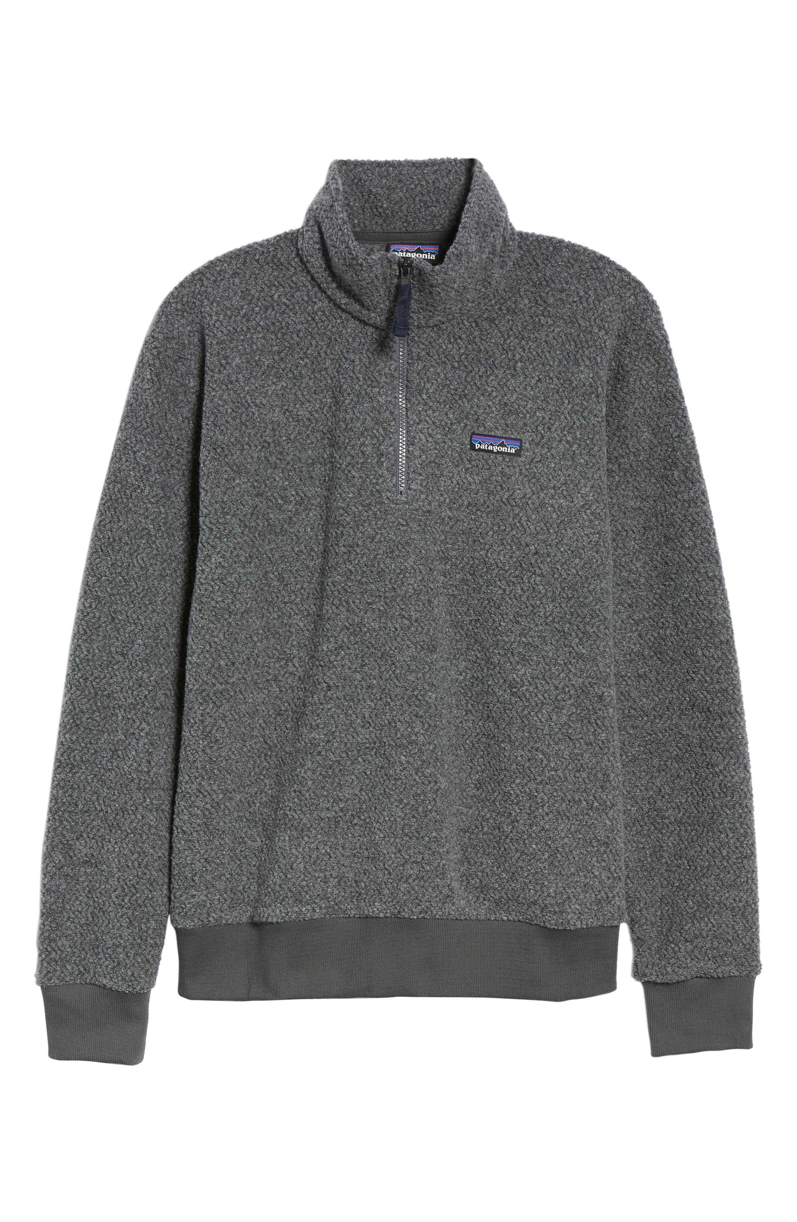 Woolyester Fleece Quarter Zip Pullover,                             Alternate thumbnail 6, color,                             FORGE GREY