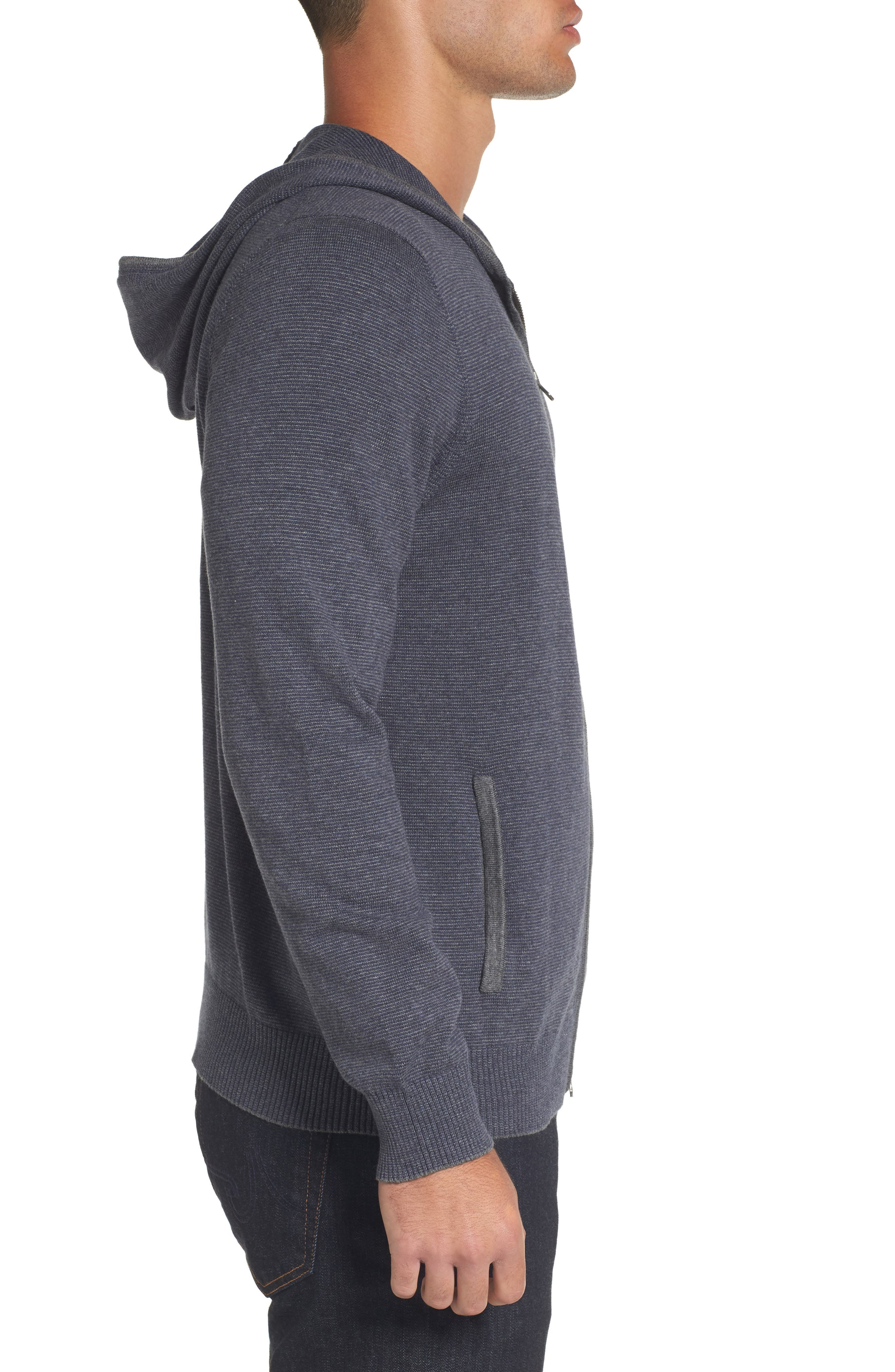 Zip Front Hooded Sweater,                             Alternate thumbnail 8, color,