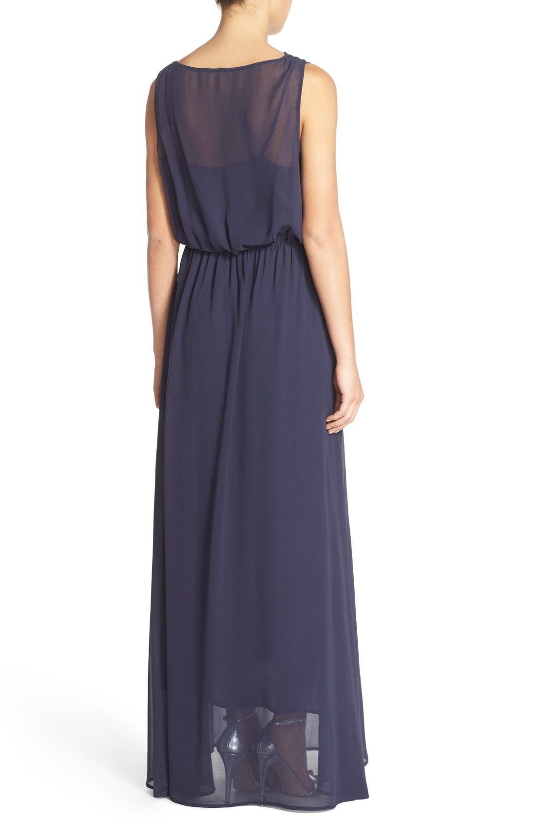 by Lauren Conrad 'Springfield' Cowl Neck Chiffon Gown,                             Alternate thumbnail 2, color,                             410