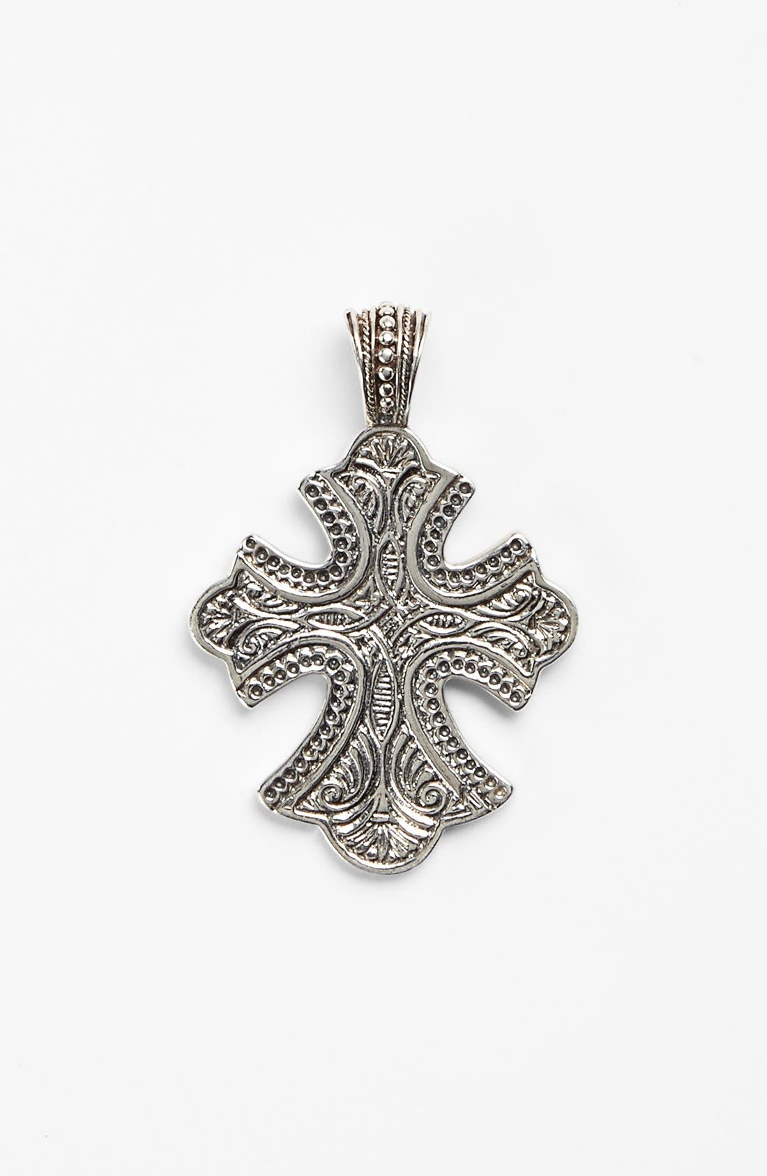 'Classics' Cross Pendant Necklace,                         Main,                         color, SILVER