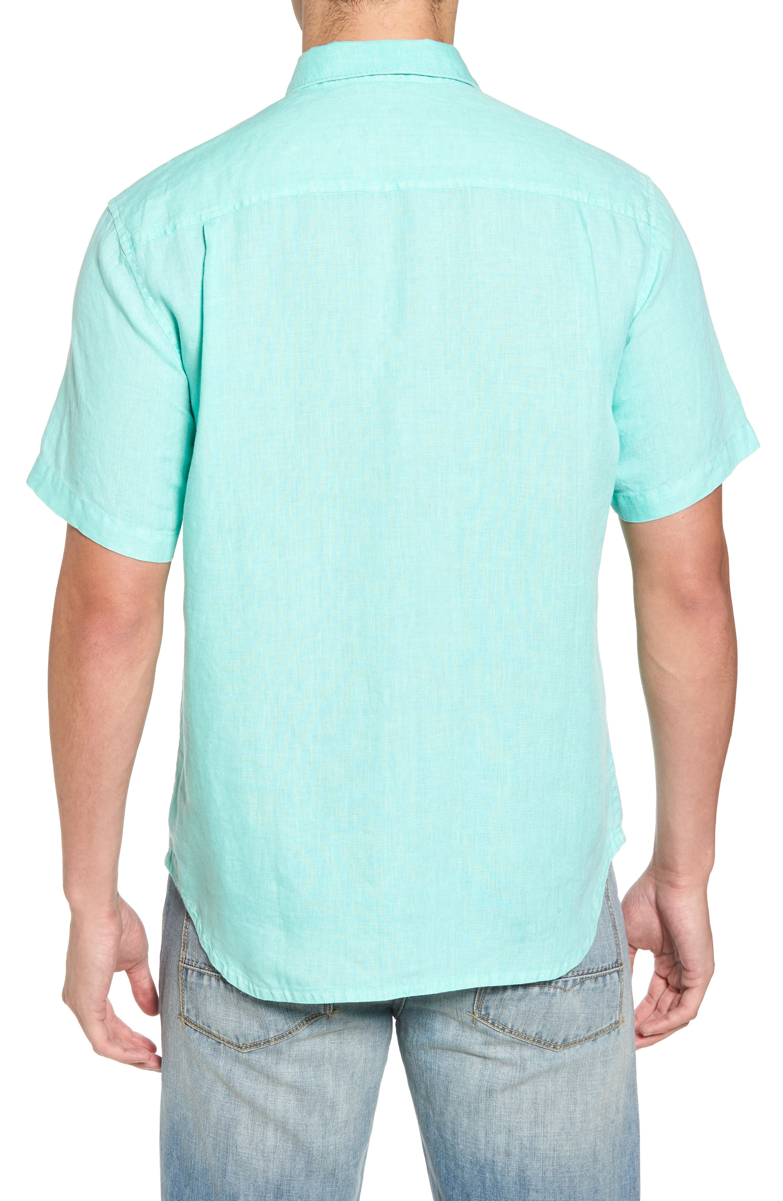 Seaspray Breezer Regular Fit Linen Sport Shirt,                             Alternate thumbnail 10, color,