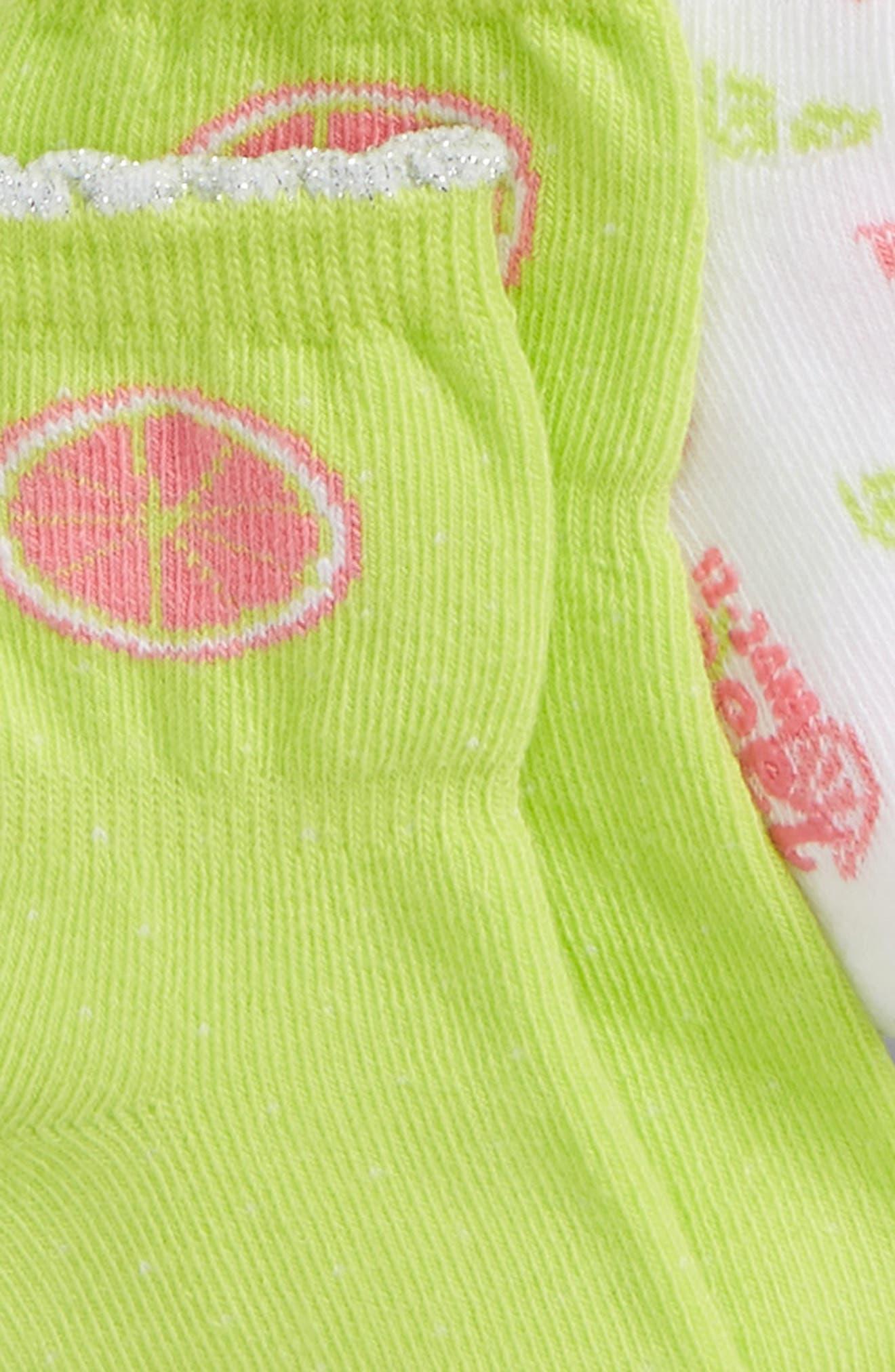 Citrus 3-Pack Socks,                             Alternate thumbnail 2, color,                             CITRON/ PINK/ WHITE