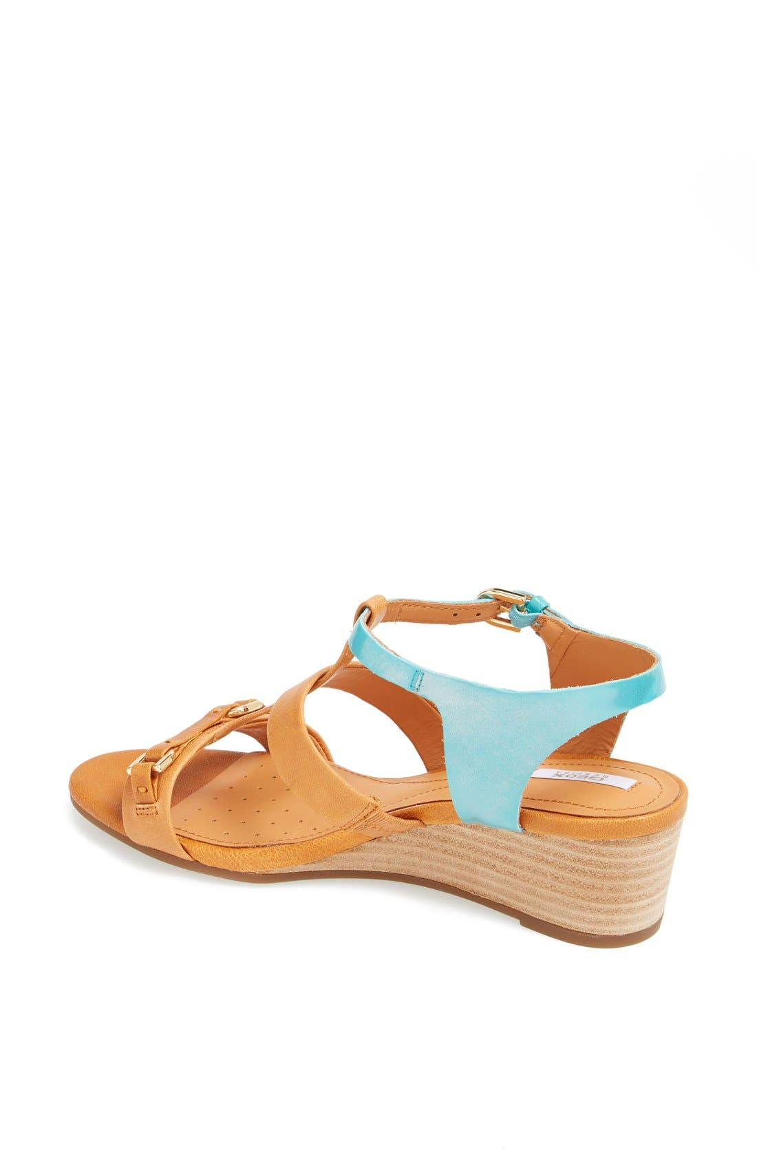 GEOX,                             'Lupe' Leather Sandal,                             Alternate thumbnail 4, color,                             258