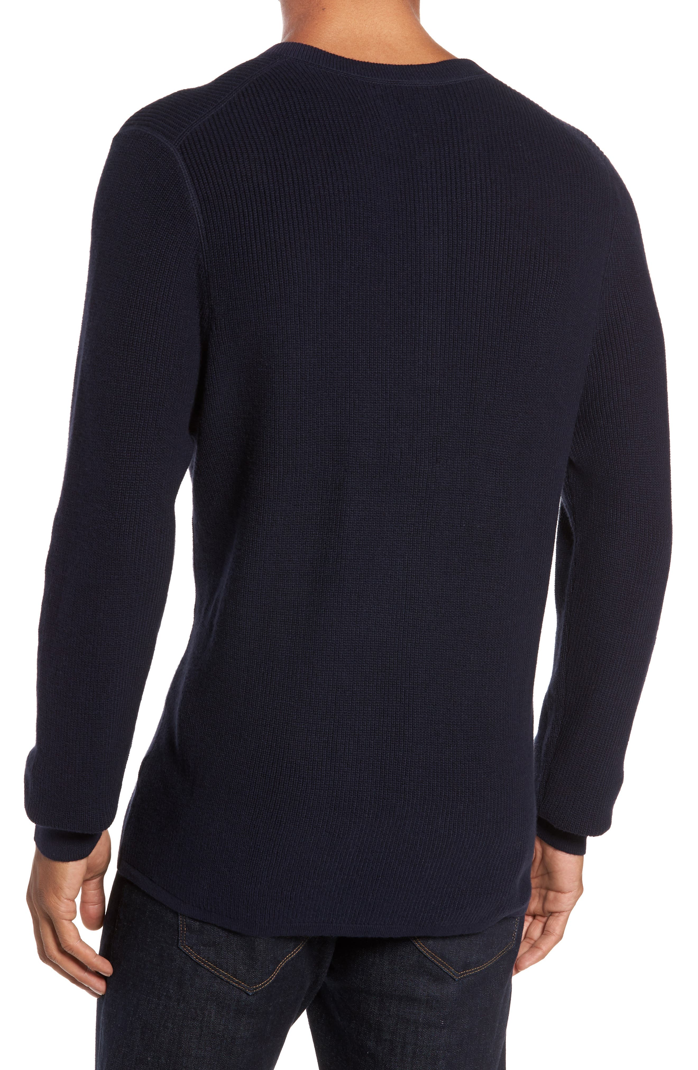 Cotton & Cashmere Henley Sweater,                             Alternate thumbnail 5, color,