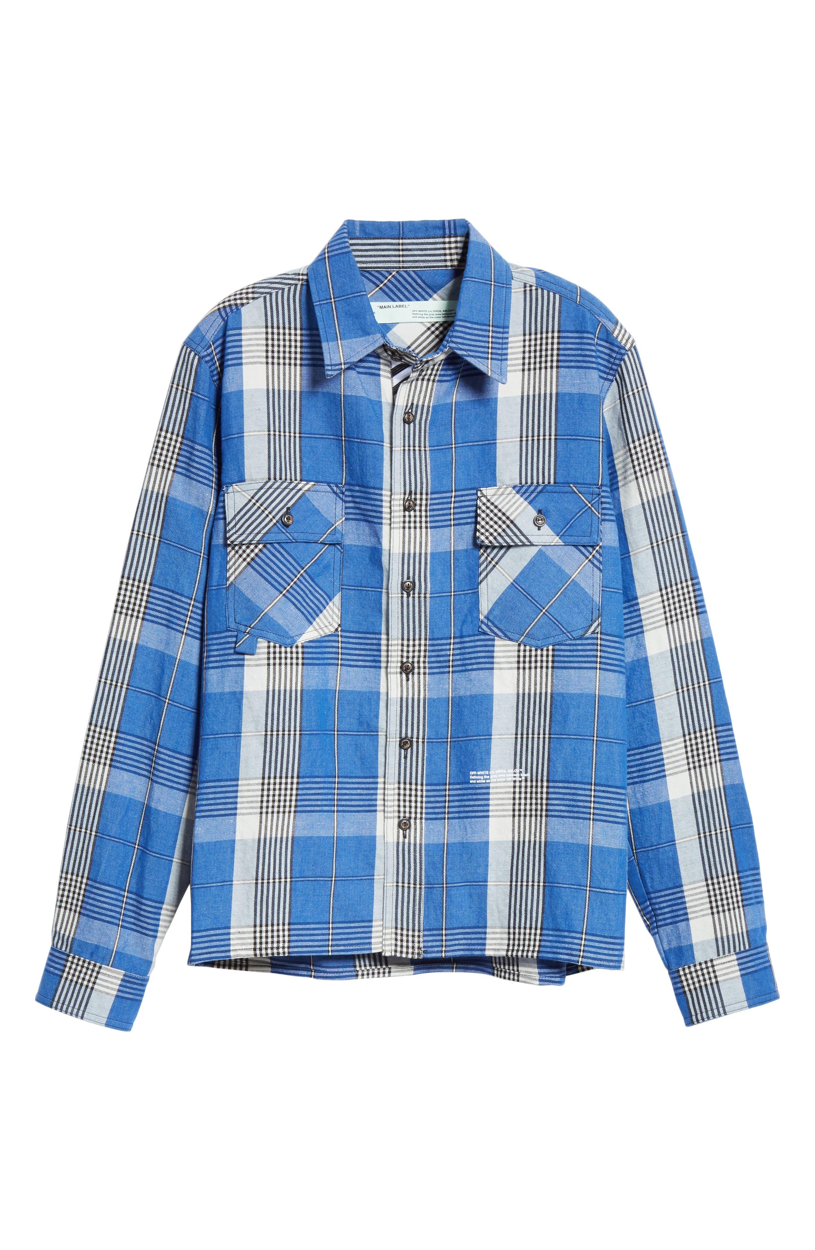 Check Shirt,                             Alternate thumbnail 6, color,                             BLUE