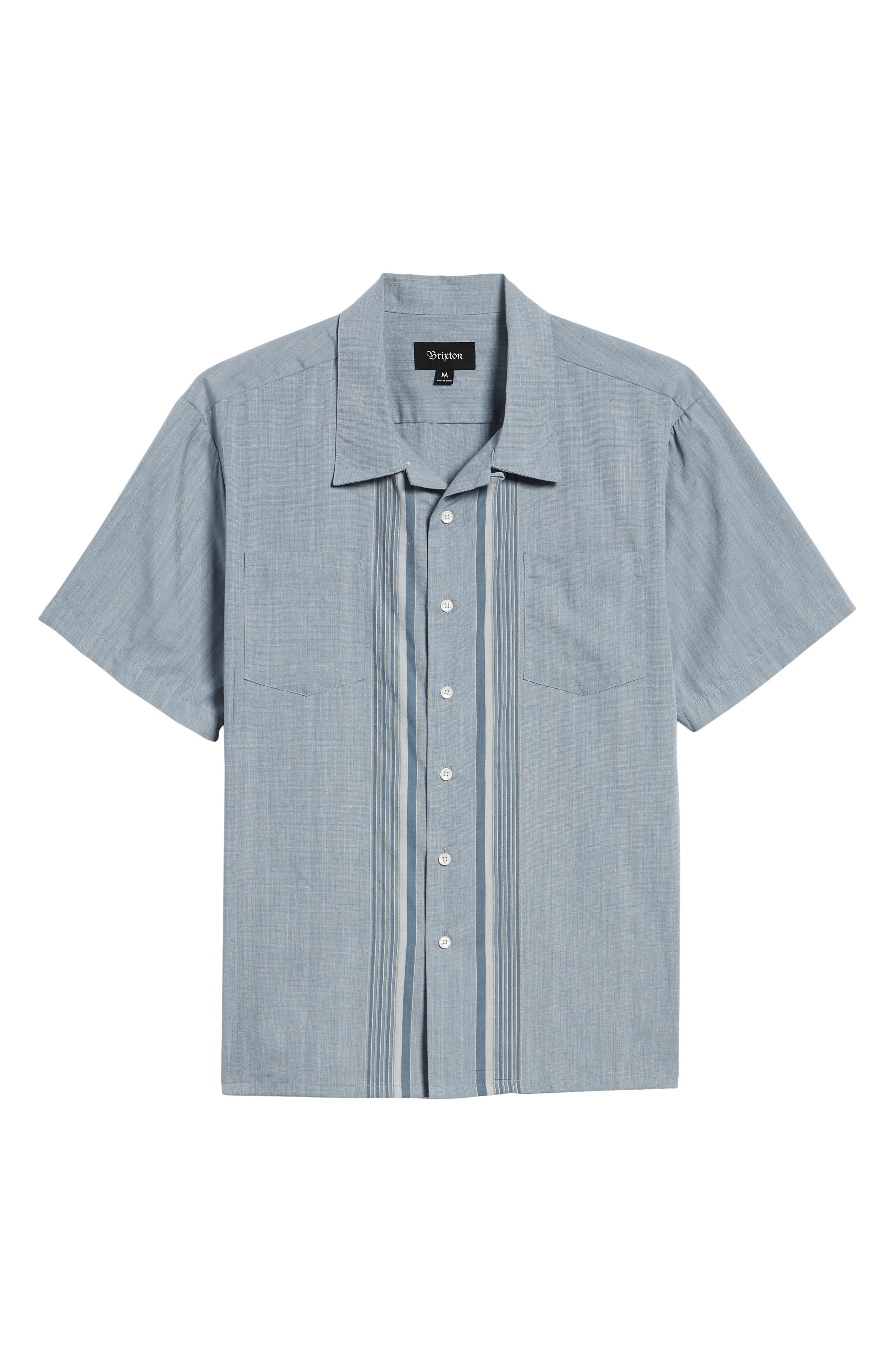 Cruze Woven Shirt,                             Alternate thumbnail 6, color,                             LIGHT BLUE