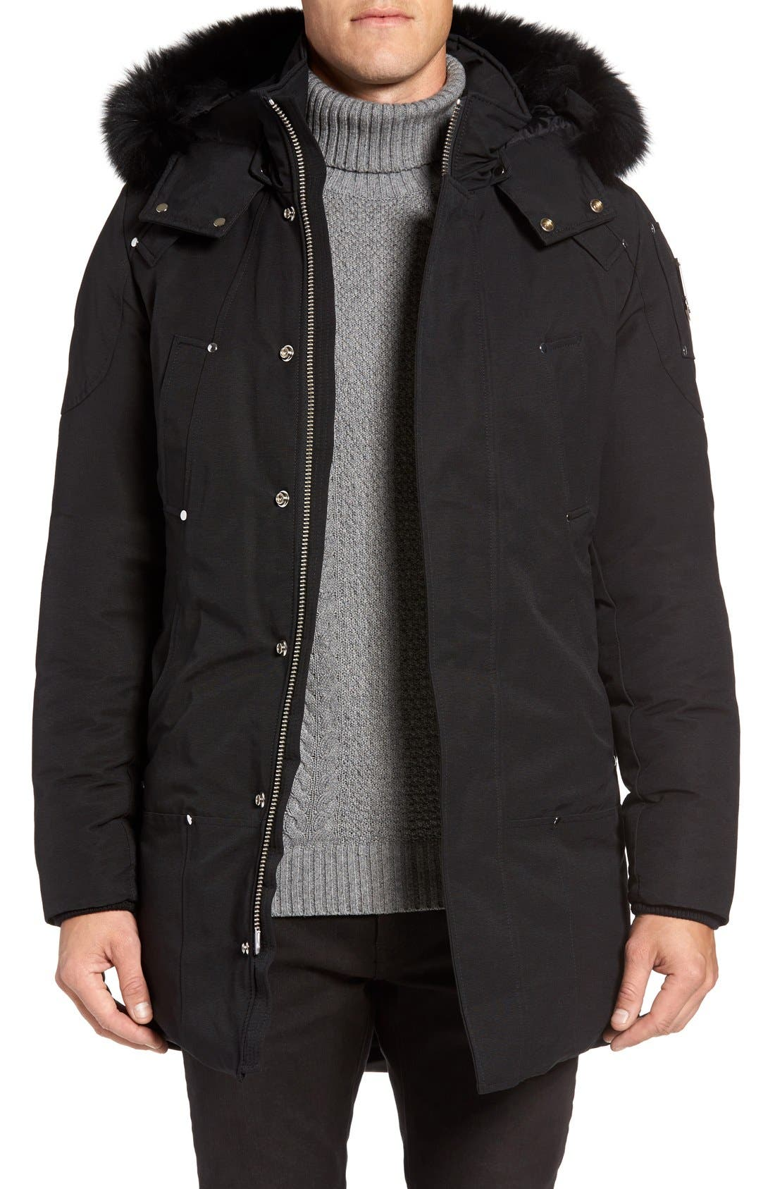 Stirling Water Repellent Down Parka with Genuine Fox Fur Trim,                             Main thumbnail 3, color,