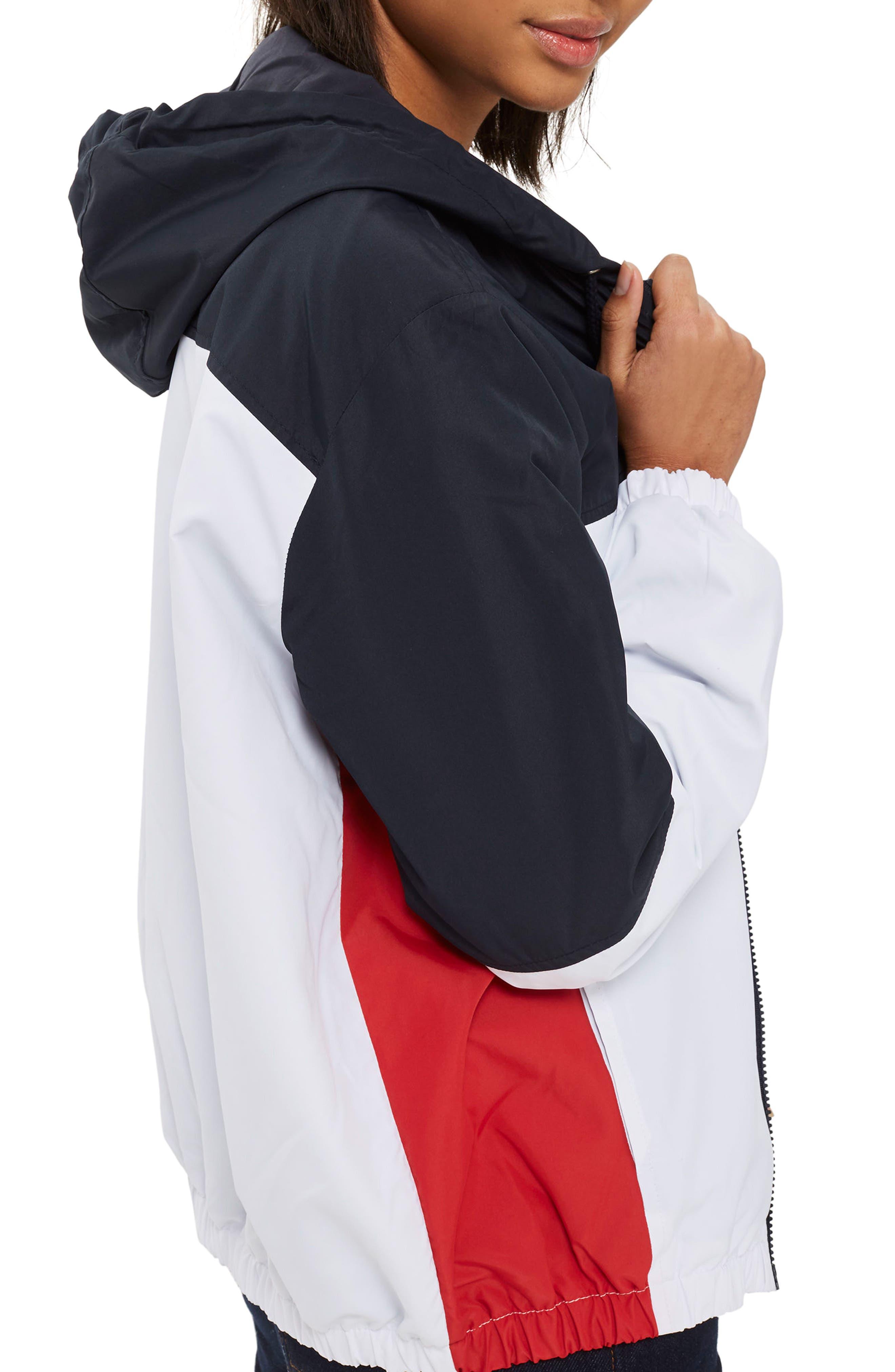 Colorblock Windbreaker Jacket,                             Alternate thumbnail 2, color,                             100