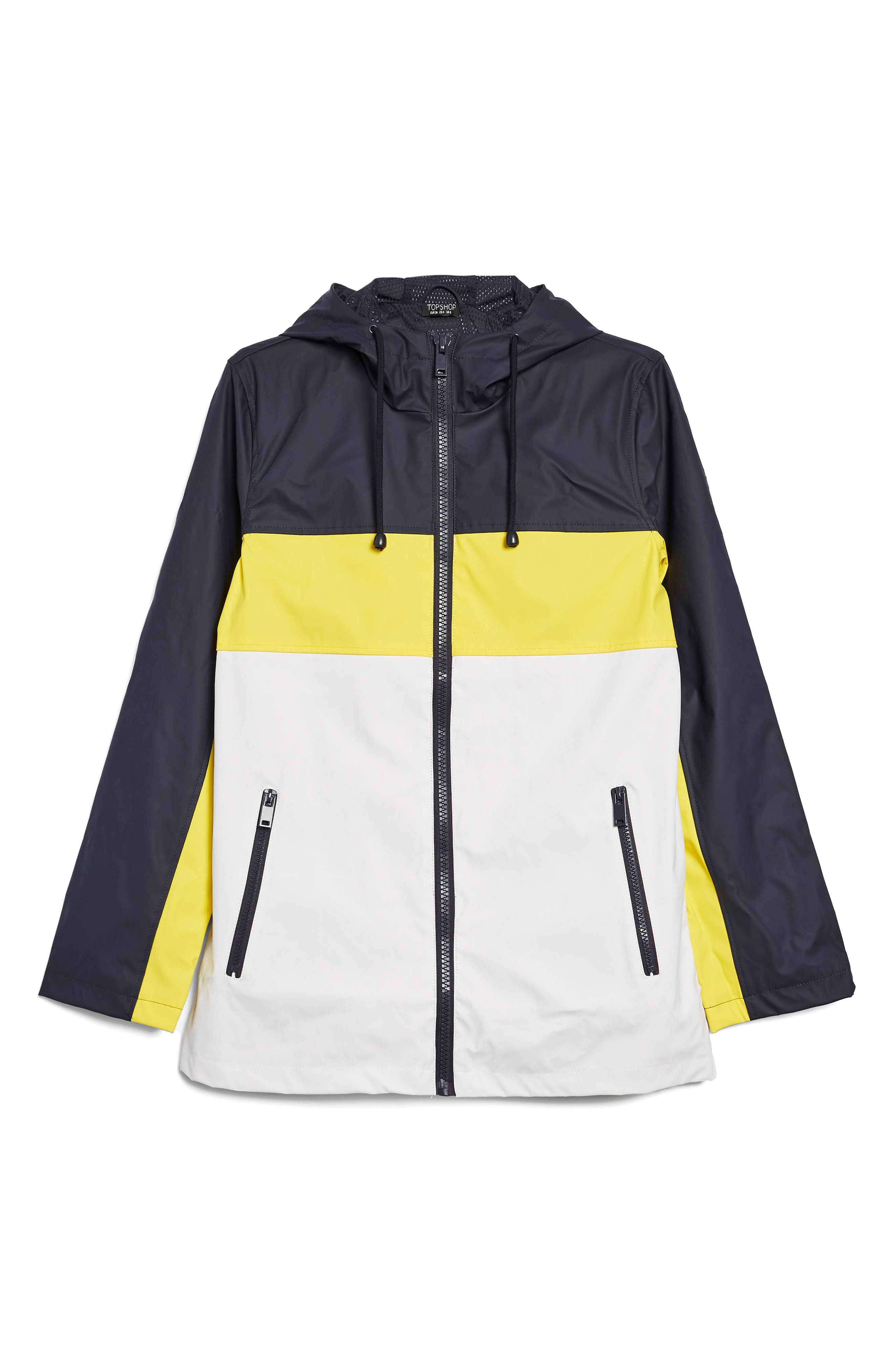 Colorblock Rain Mac Jacket,                             Alternate thumbnail 4, color,                             411