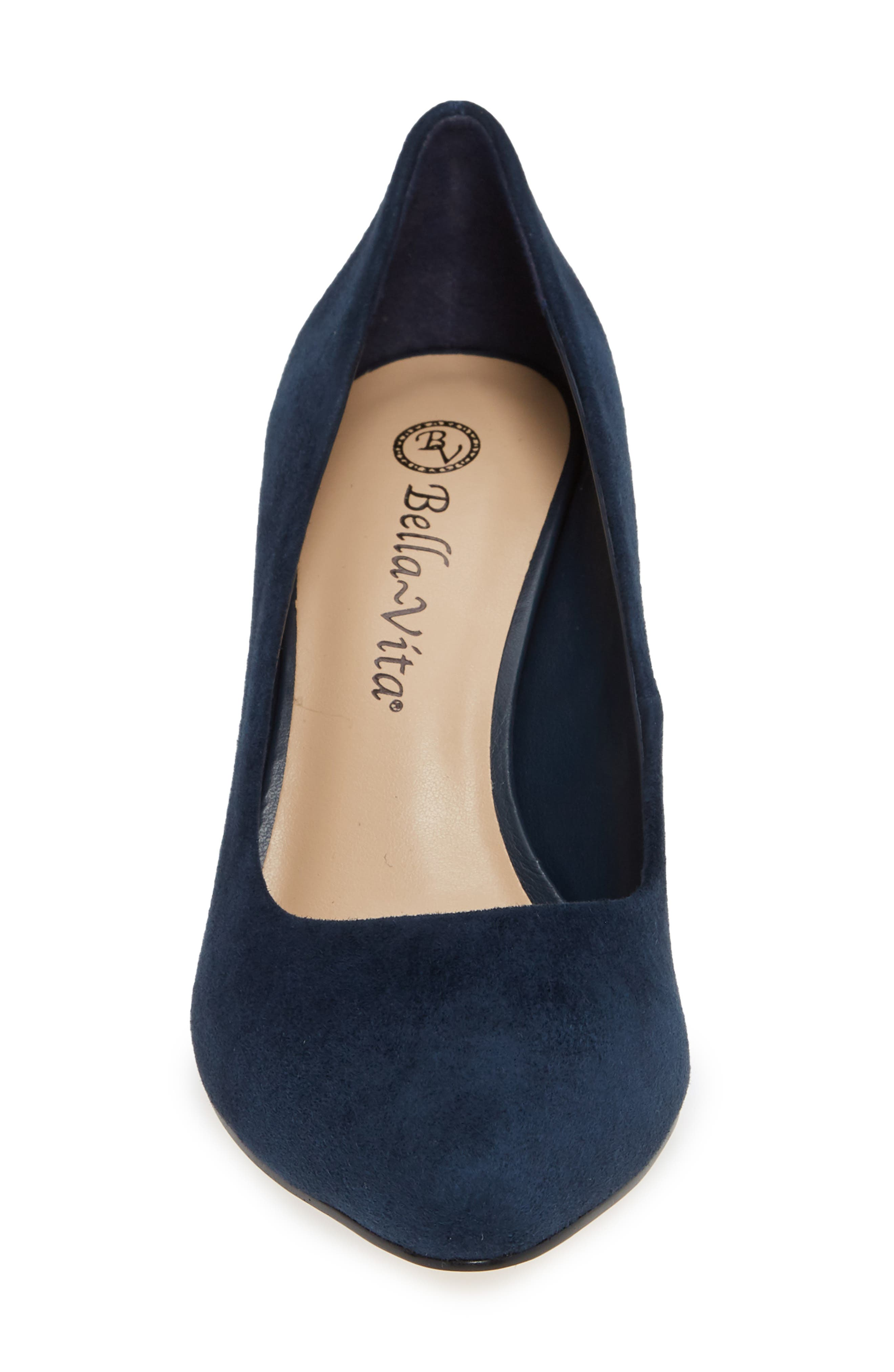 Gigi Pump,                             Alternate thumbnail 4, color,                             NAVY SUEDE