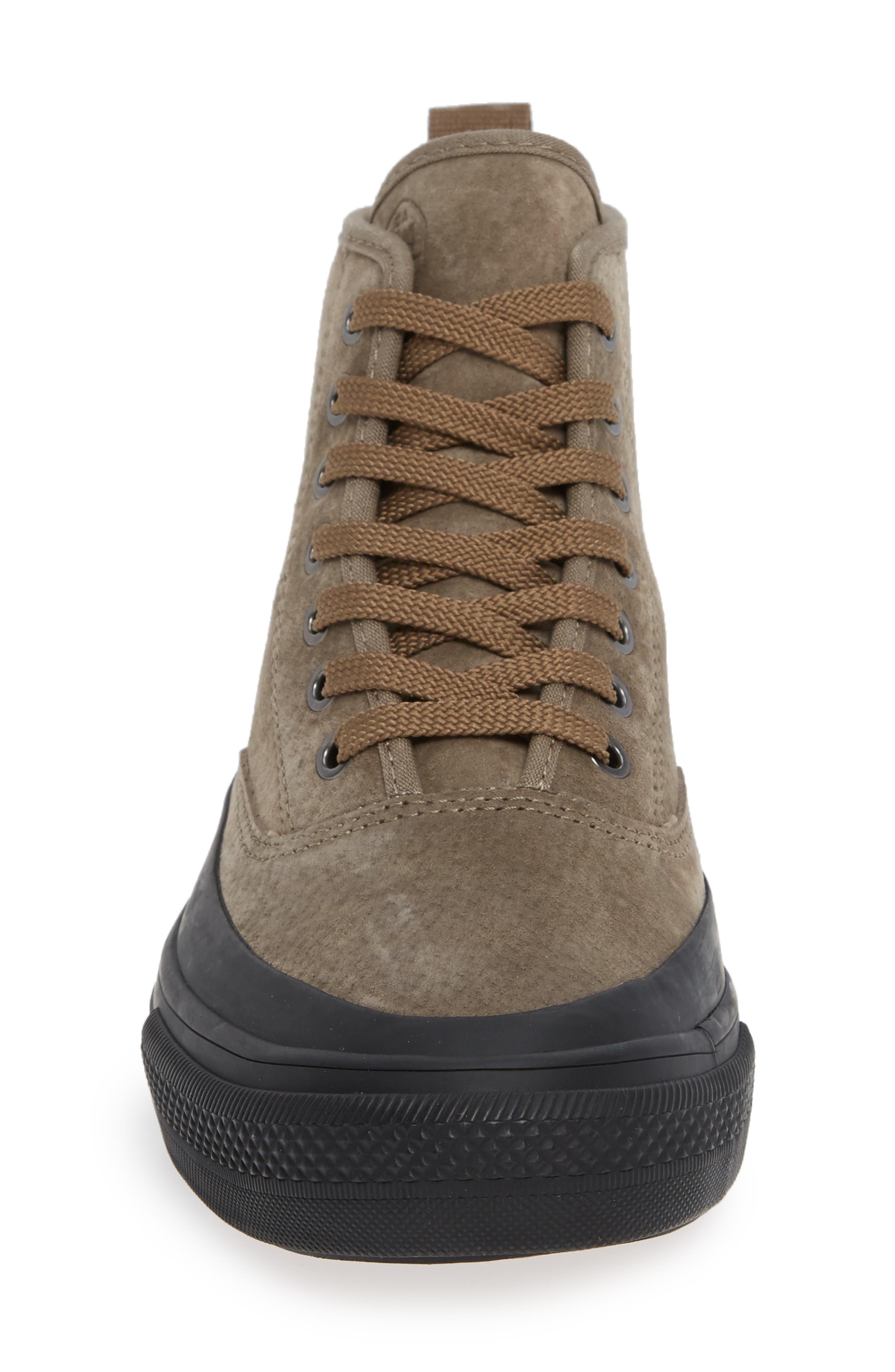 Mariners Waterproof Sneaker,                             Alternate thumbnail 4, color,                             BROWN SUEDE
