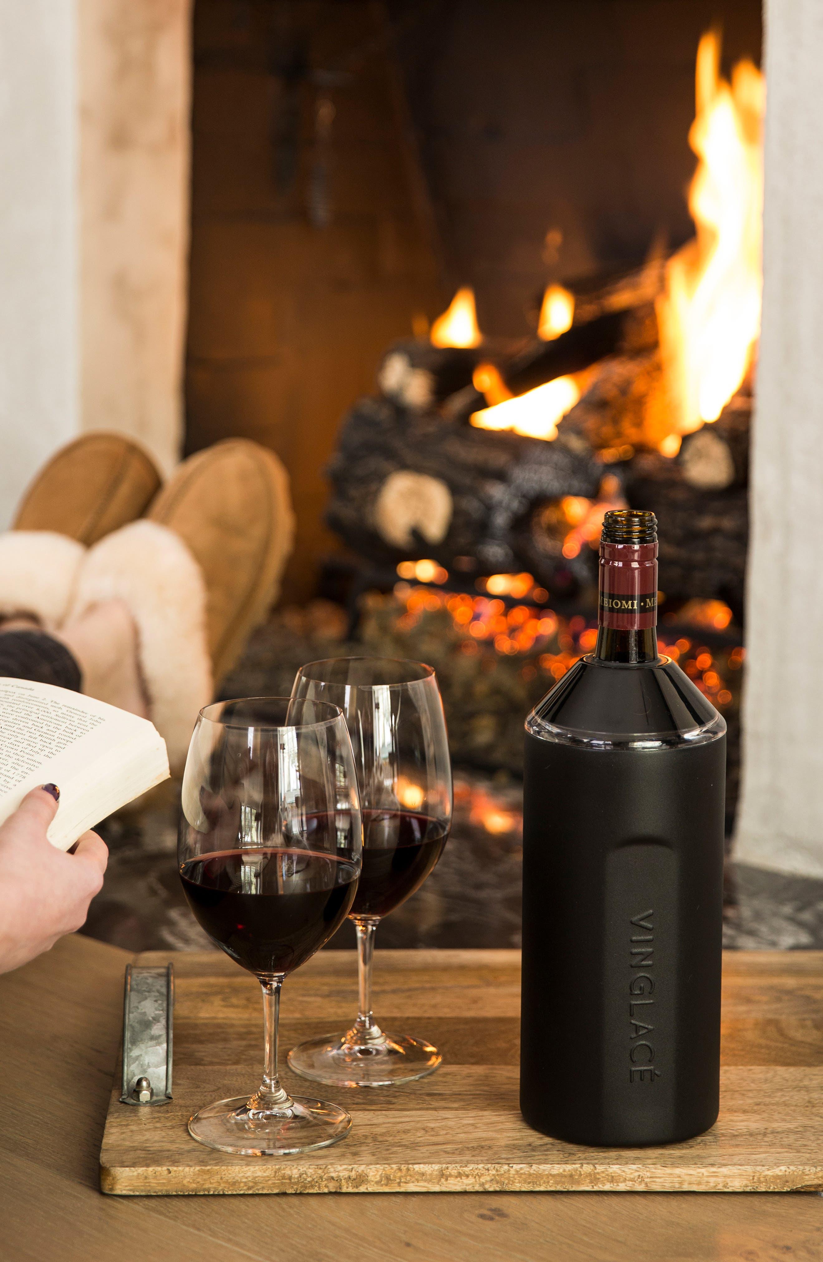 Vinglacé Wine Chiller,                             Alternate thumbnail 2, color,                             BLACK