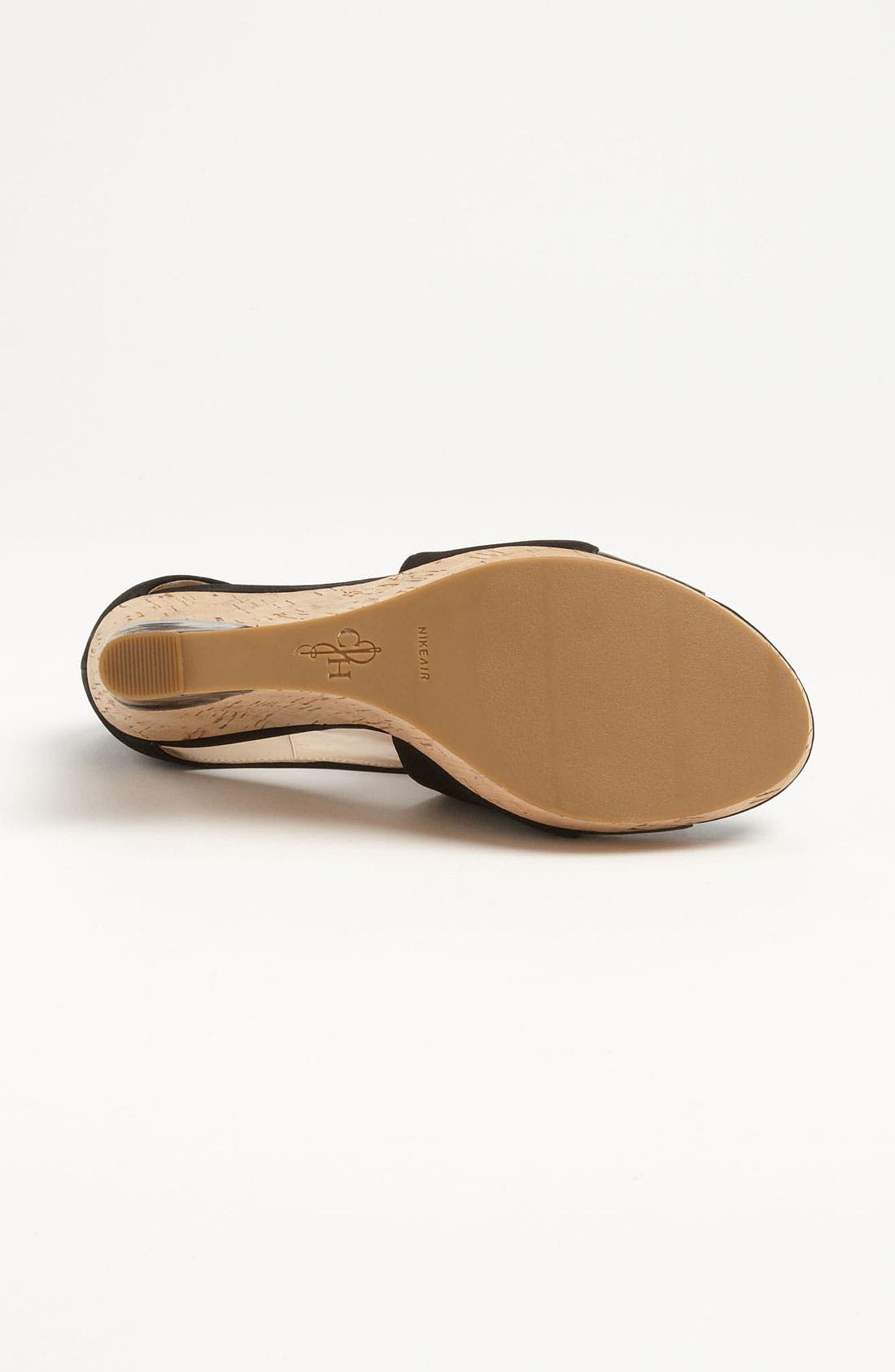 COLE HAAN,                             'Air Irving' Wedge Sandal,                             Alternate thumbnail 4, color,                             001