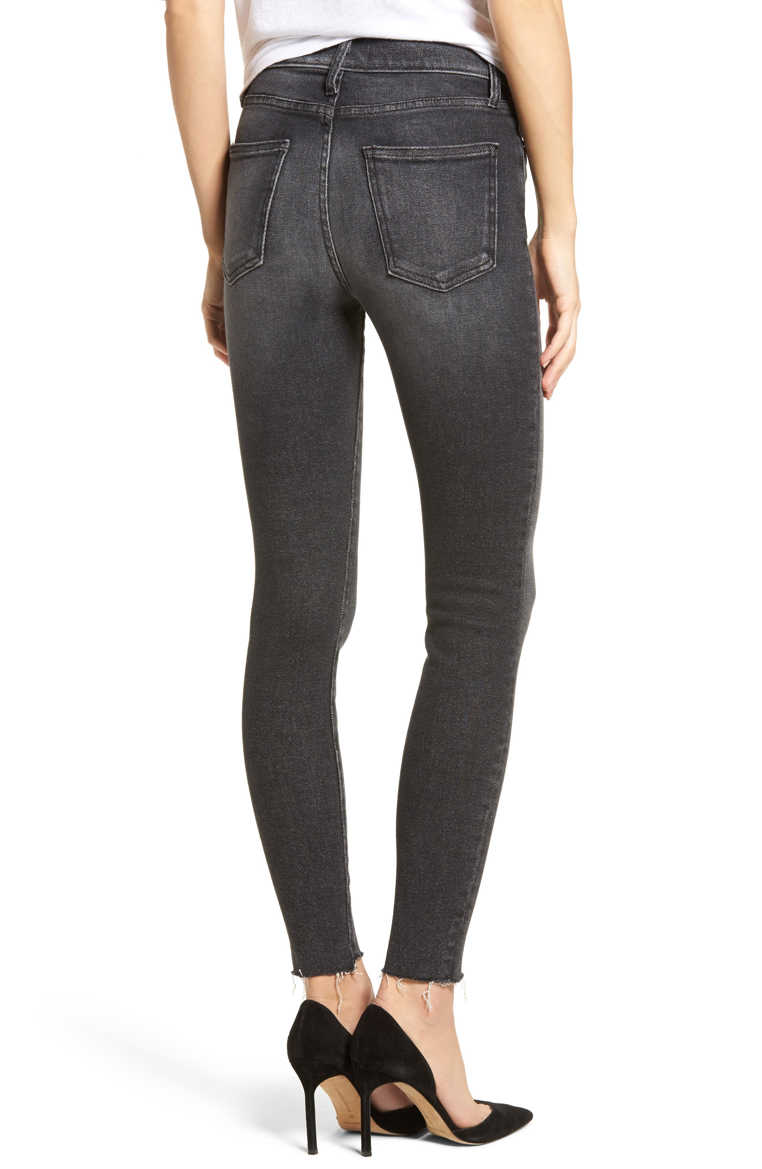 The Ultra High Waist Ankle Skinny Jeans,                             Alternate thumbnail 2, color,                             007