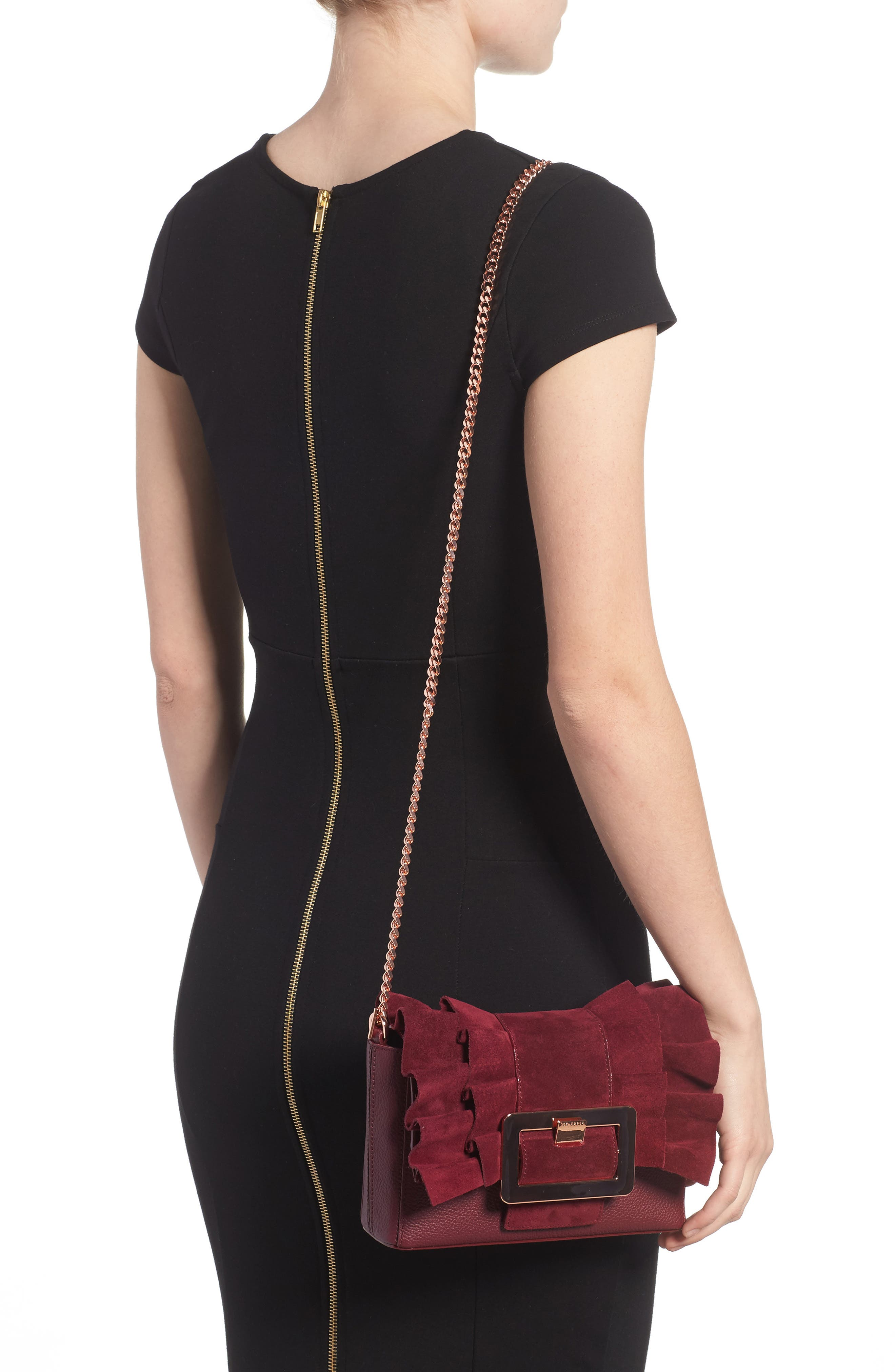 Nerinee Bow Buckle Clutch,                             Alternate thumbnail 5, color,