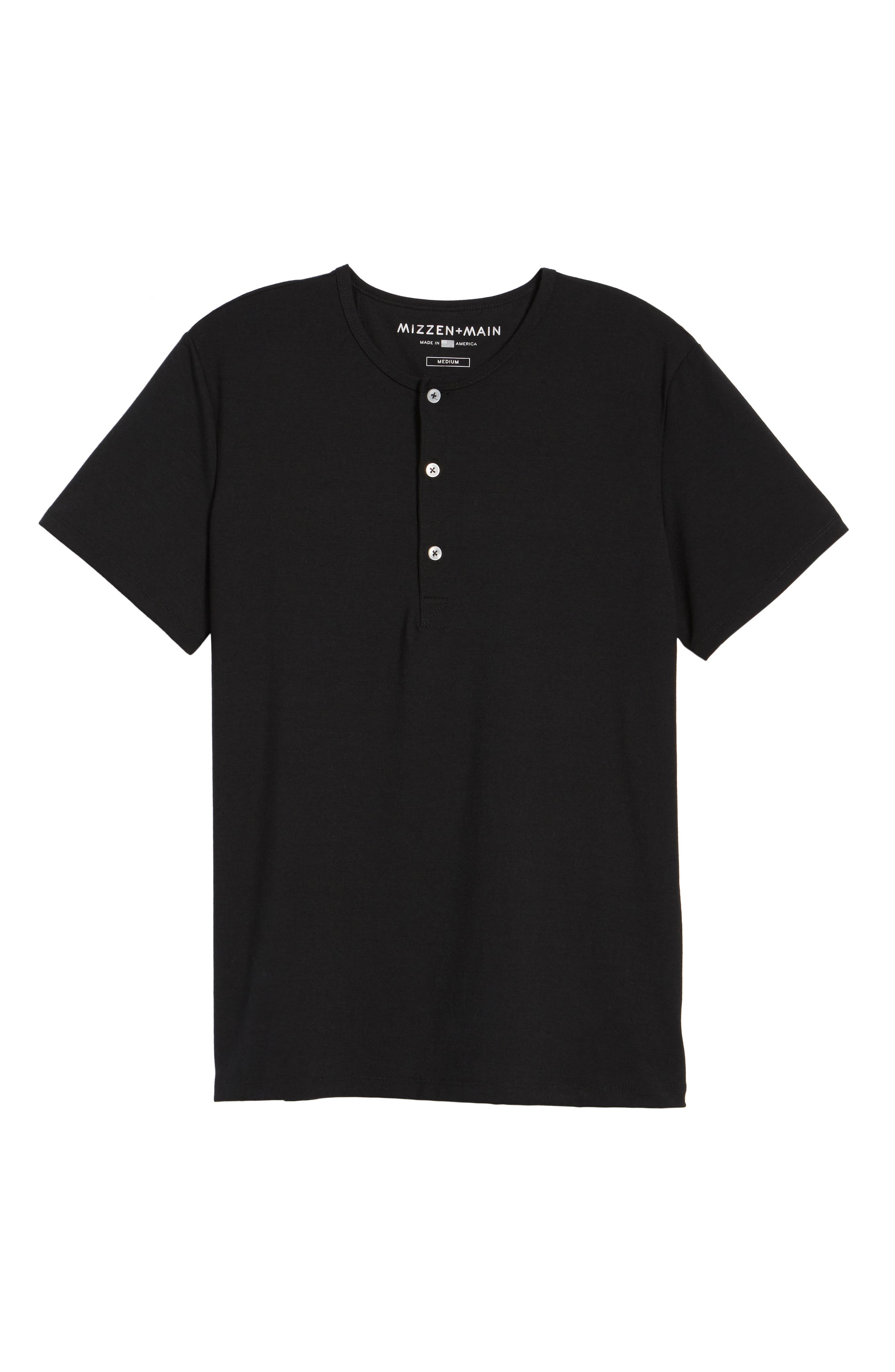 Slim Fit Short Sleeve Performance Henley T-Shirt,                             Alternate thumbnail 6, color,                             TOHONO BLACK