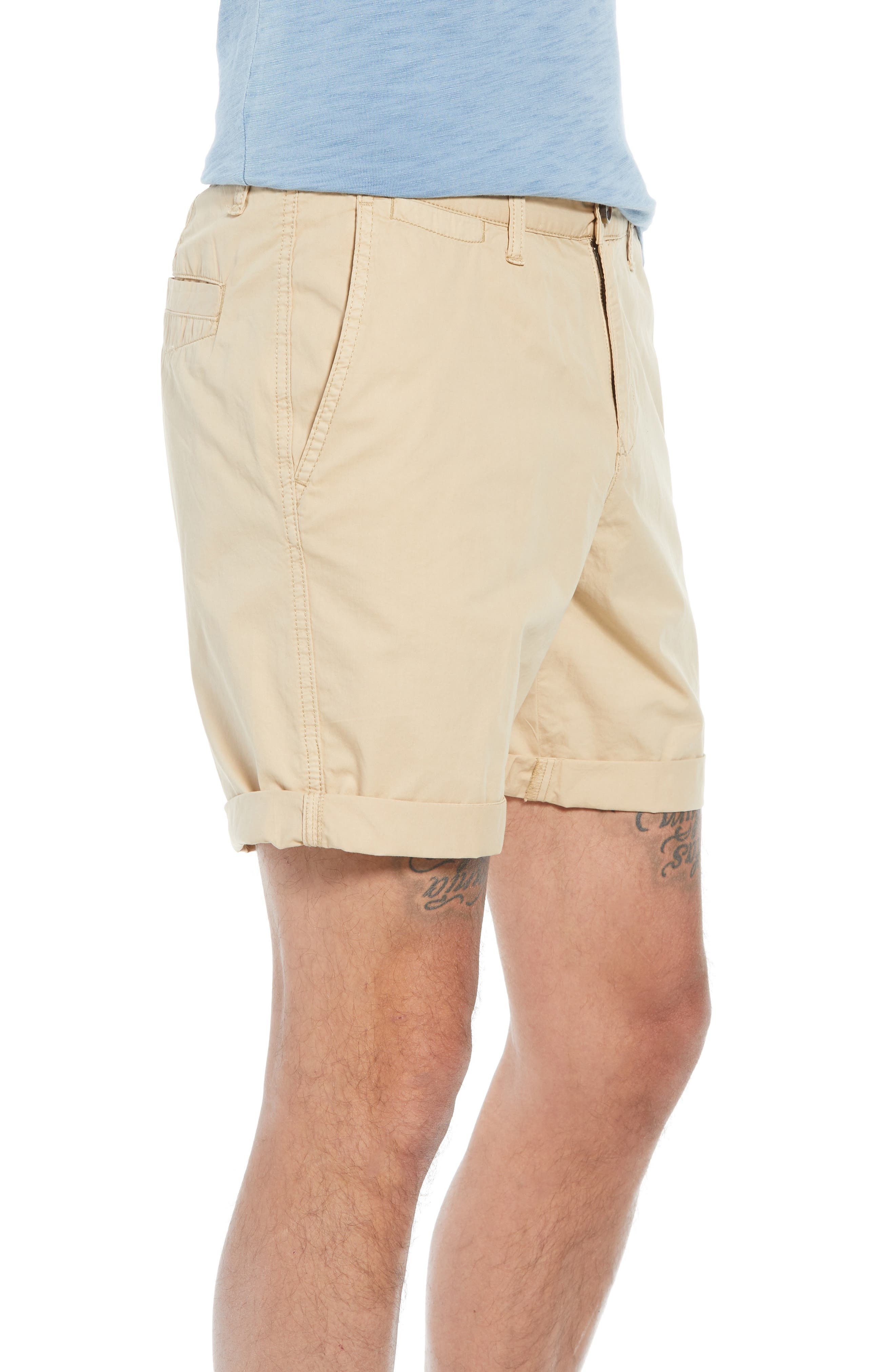 Washed Cuffed Shorts,                             Alternate thumbnail 3, color,                             260