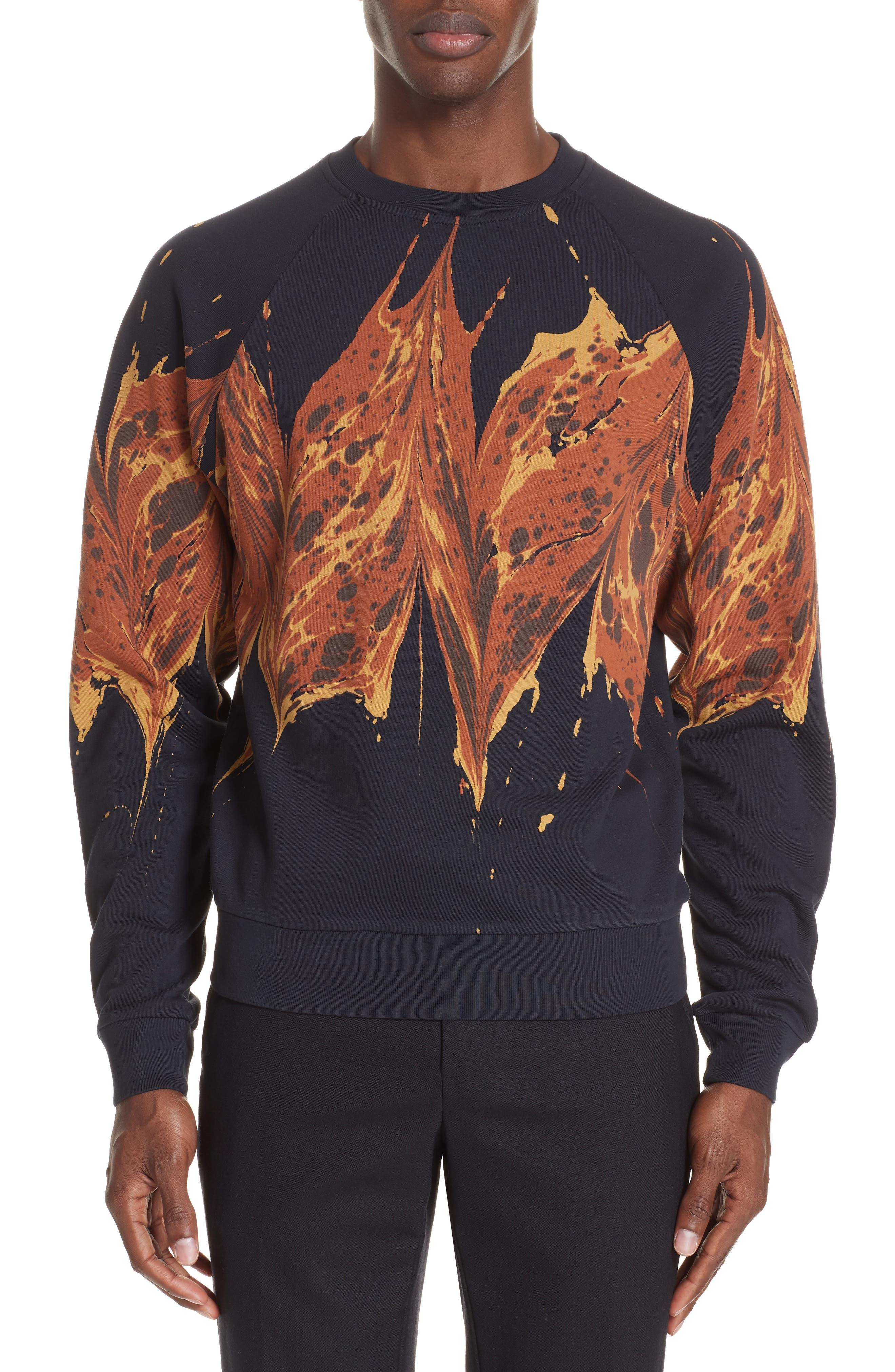 Graphic Sweatshirt,                         Main,                         color, NAVY