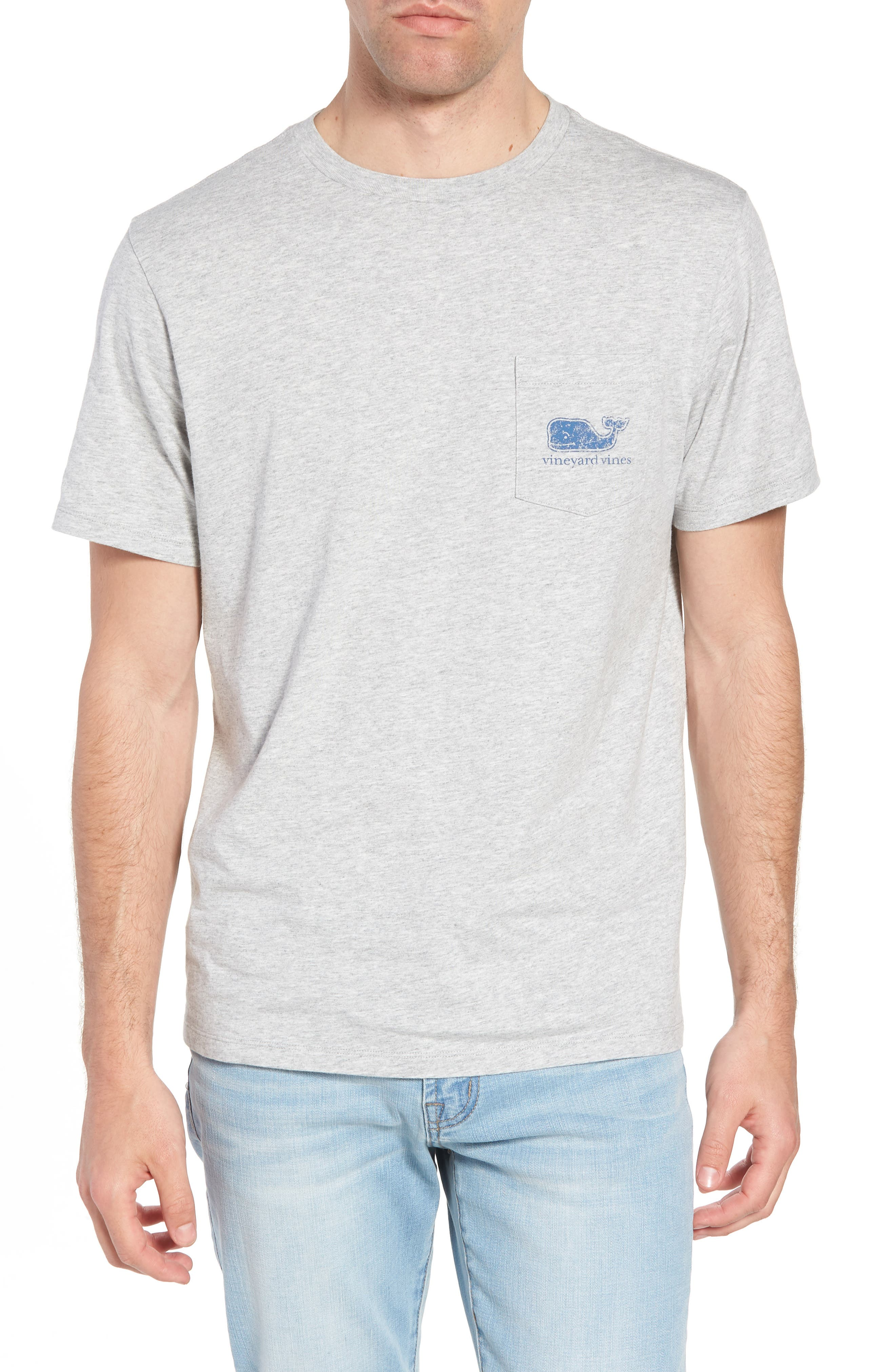 Whale Crewneck T-Shirt,                             Main thumbnail 1, color,                             GREY HEATHER