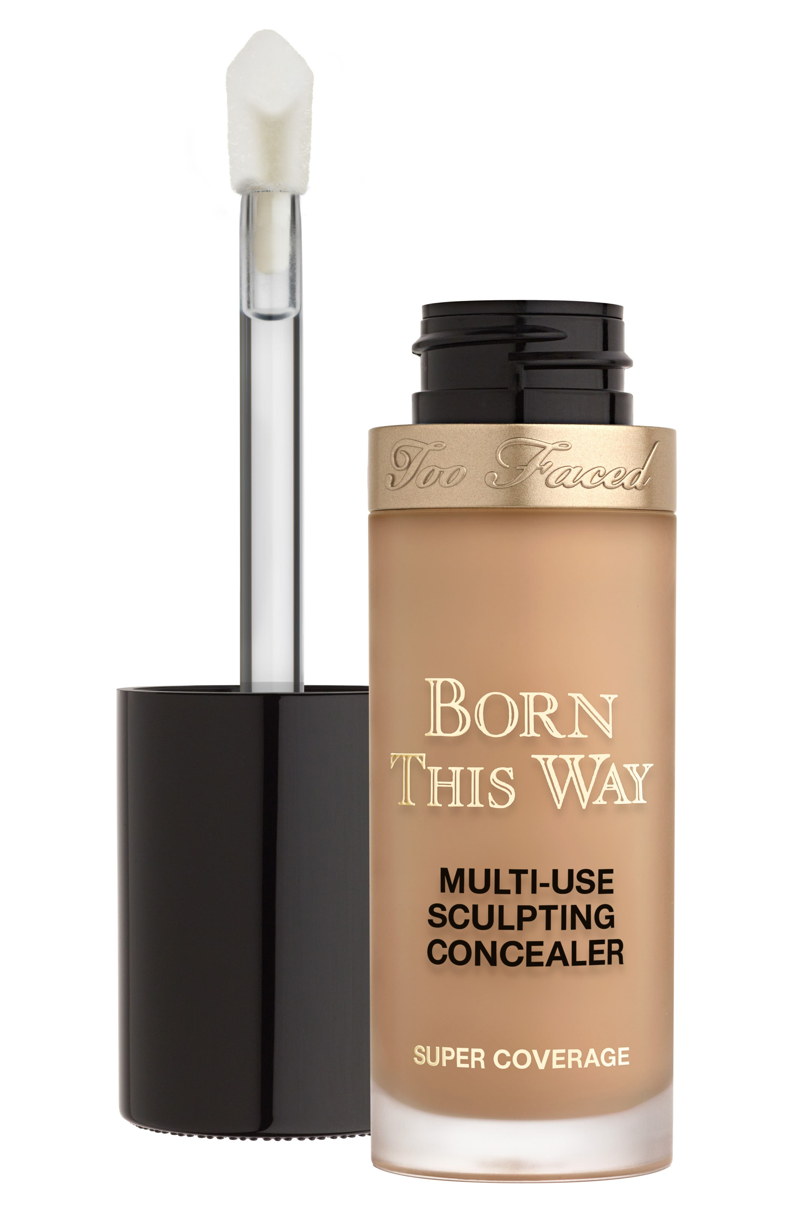 TOO FACED,                             Born This Way Super Coverage Multi-Use Sculpting Concealer,                             Alternate thumbnail 5, color,                             HONEY