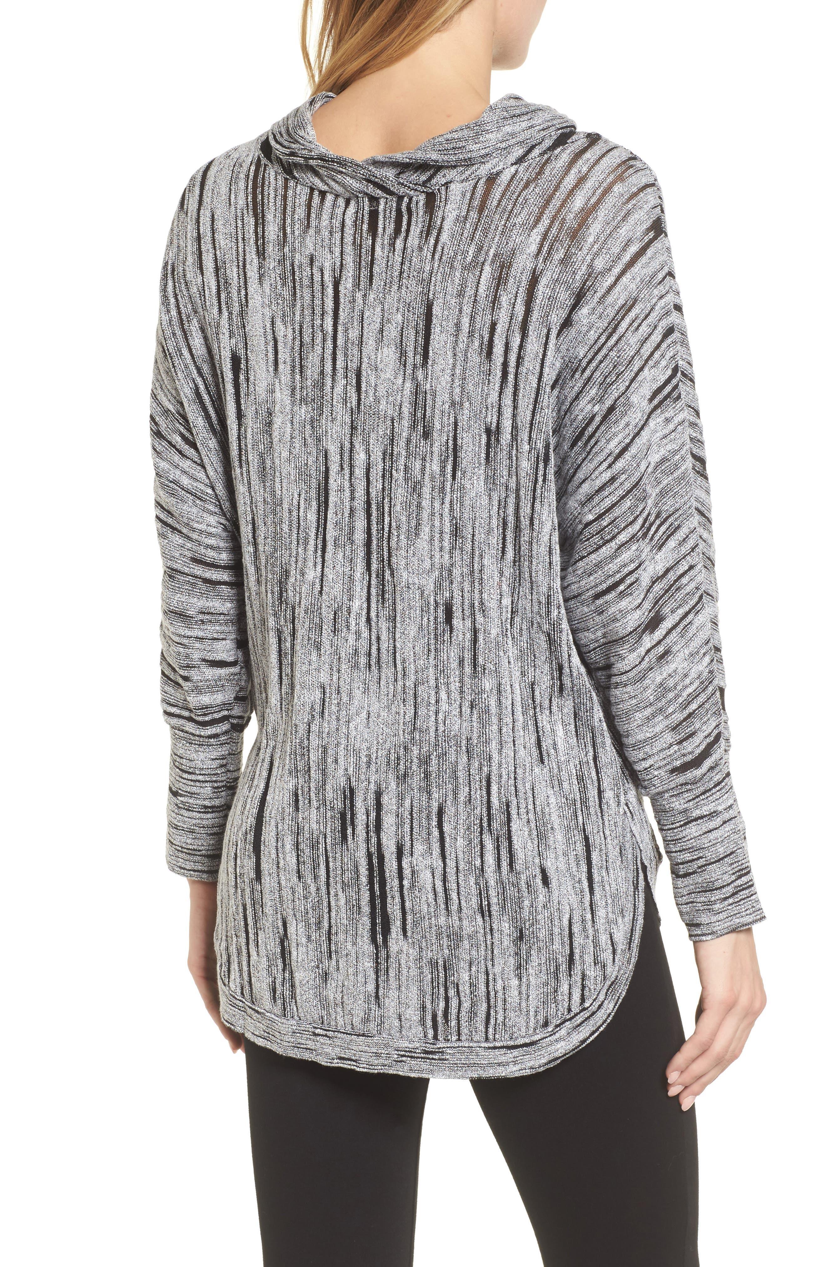 Cowl Neck Open Stitch Sweater,                             Alternate thumbnail 2, color,                             004