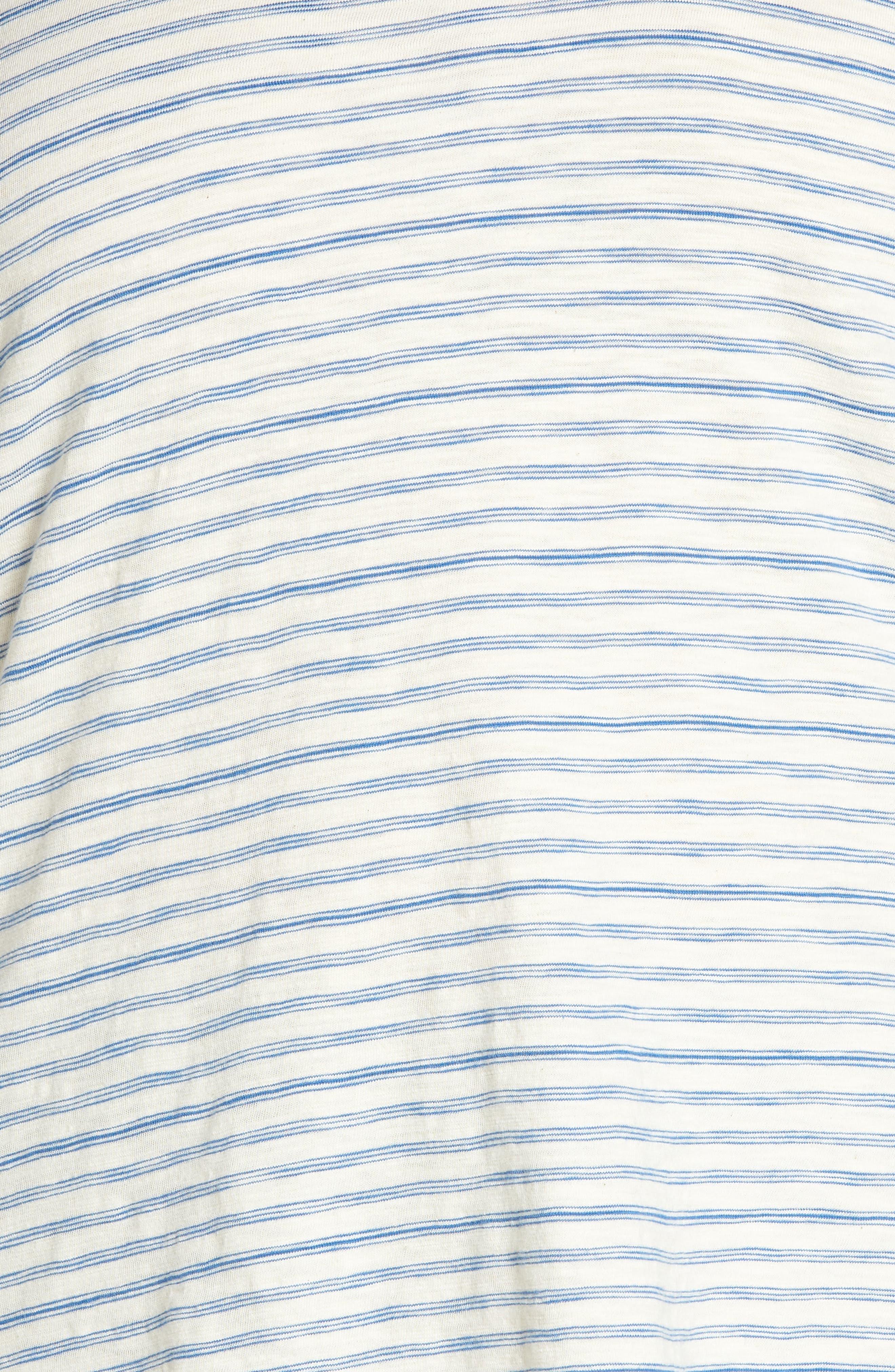 Lace-Up Shoulder Stripe Tee,                             Alternate thumbnail 6, color,                             460